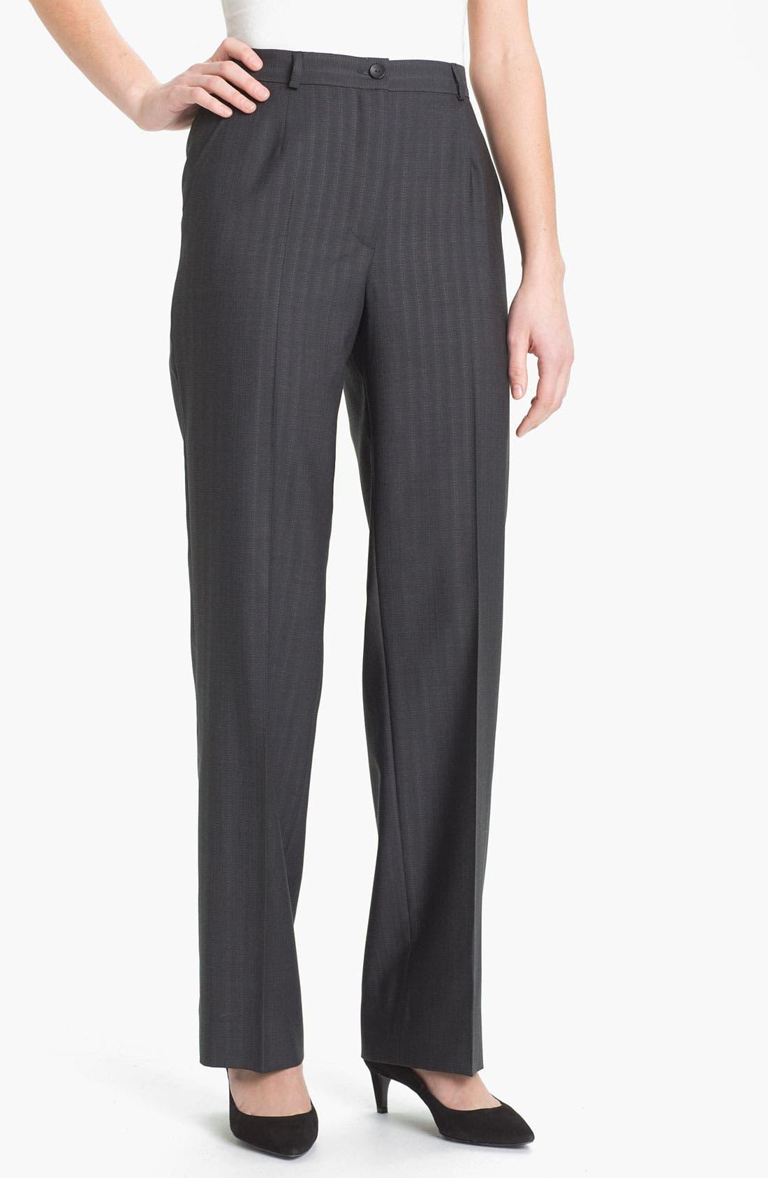 Main Image - Zanella 'Goldie' Tonal Stripe Wool Pants