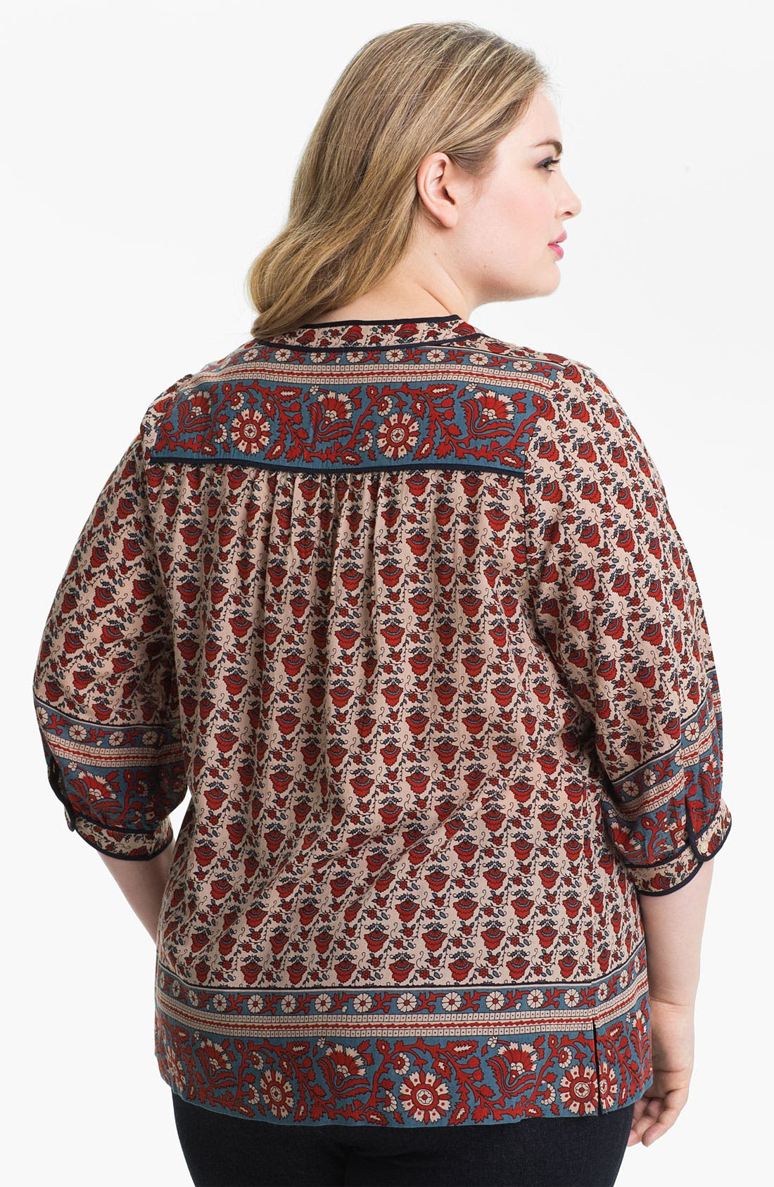 Alternate Image 2  - Lucky Brand Print Peasant Top (Plus)