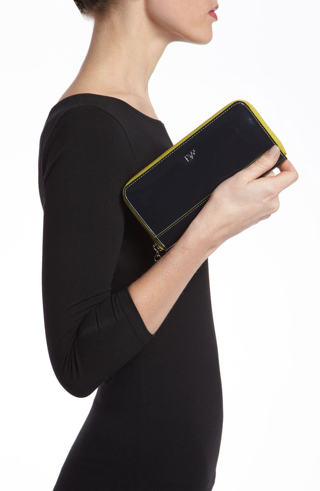 Alternate Image 2  - Diane von Furstenberg Heart Charm Patent Leather Wallet