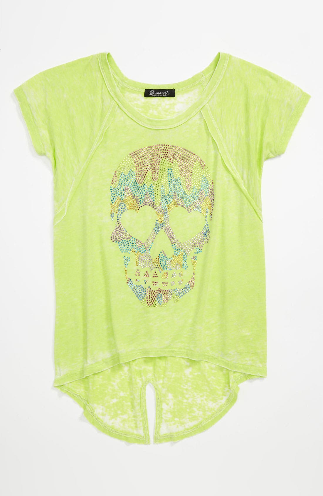 Alternate Image 1 Selected - Signorelli 'Skull' Embellished Burnout Tee