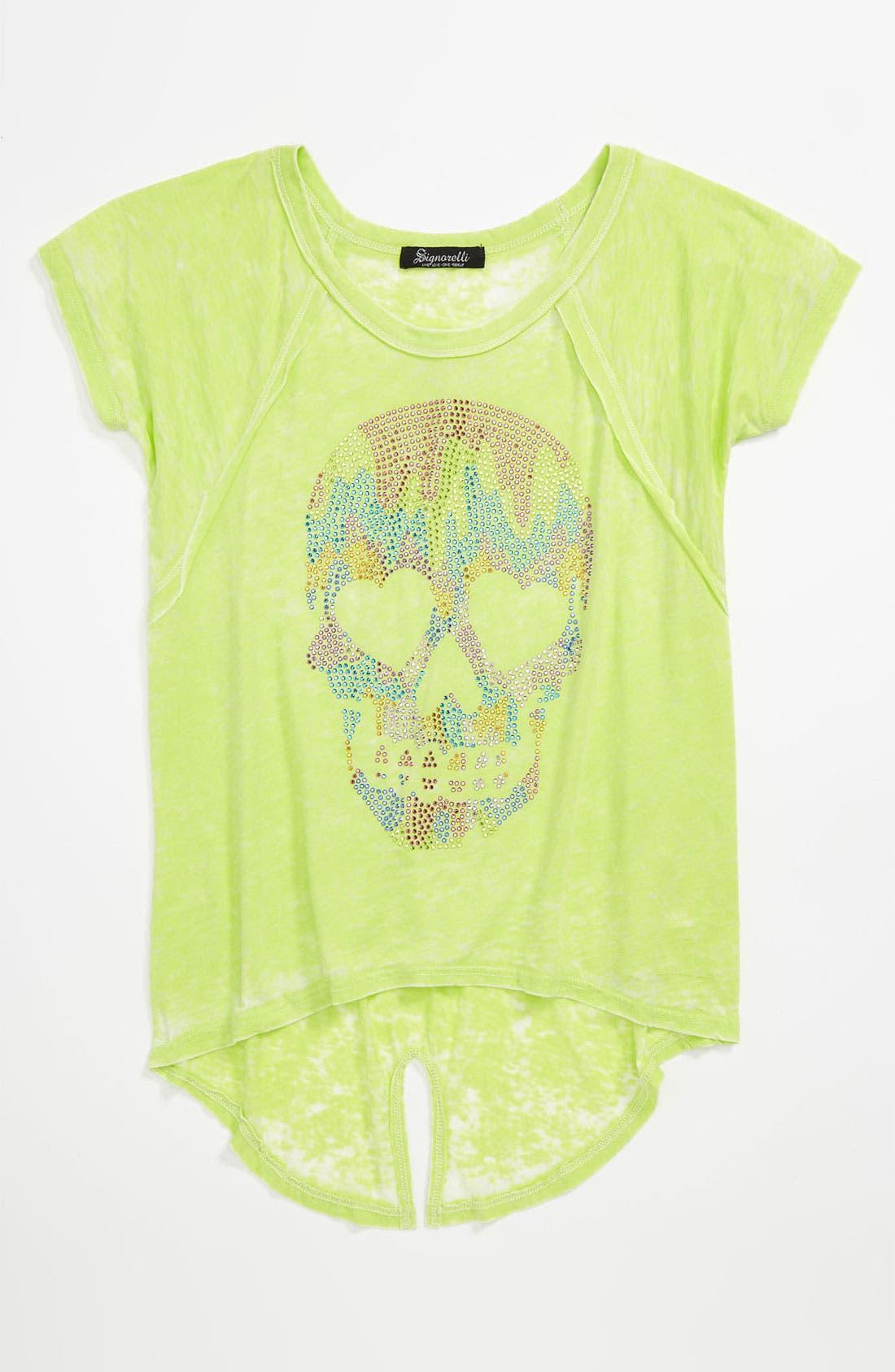 Main Image - Signorelli 'Skull' Embellished Burnout Tee