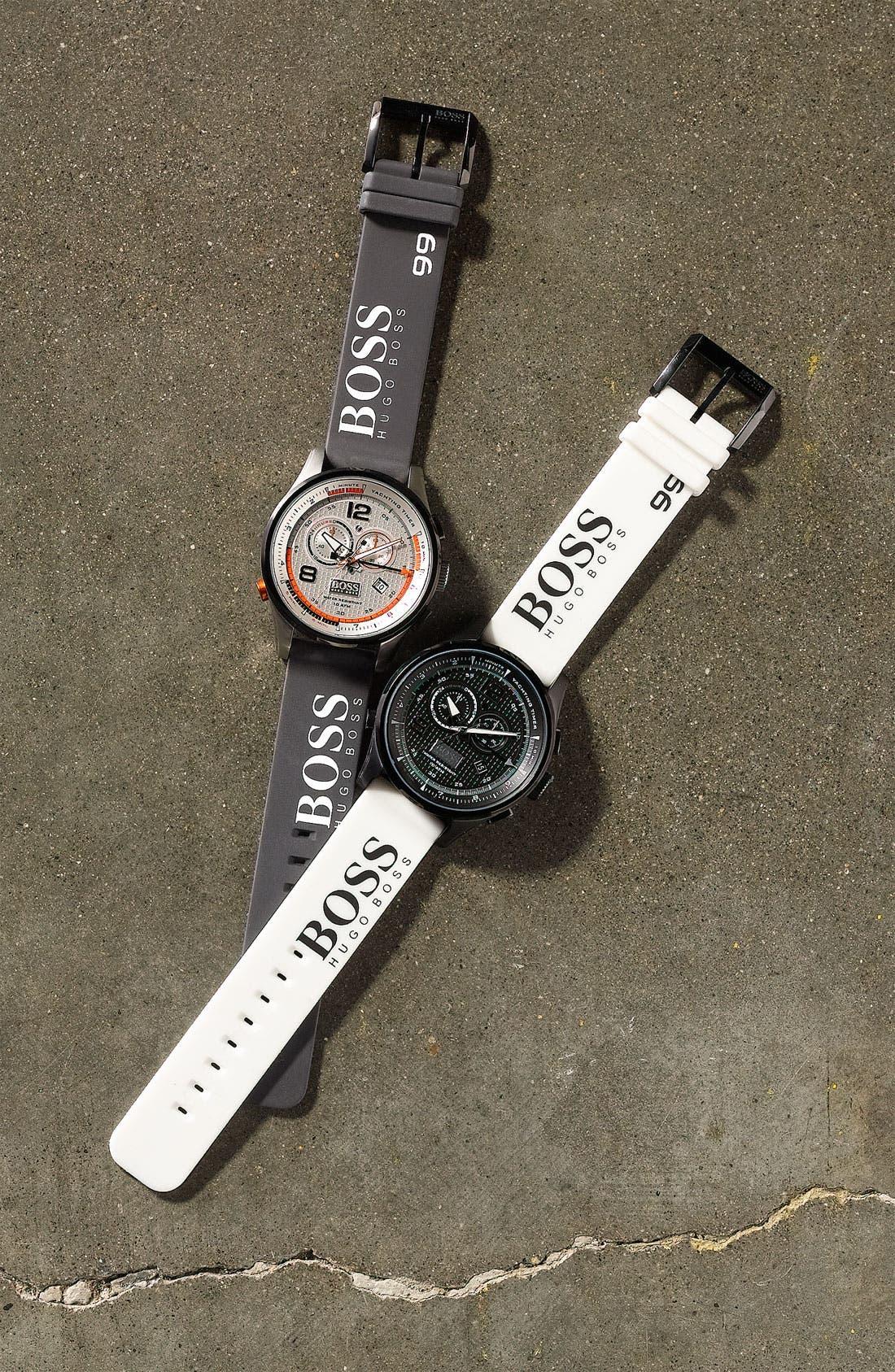 Alternate Image 2  - BOSS HUGO BOSS 'Iconic Regatta' Chronograph Silicone Strap Watch, 46mm