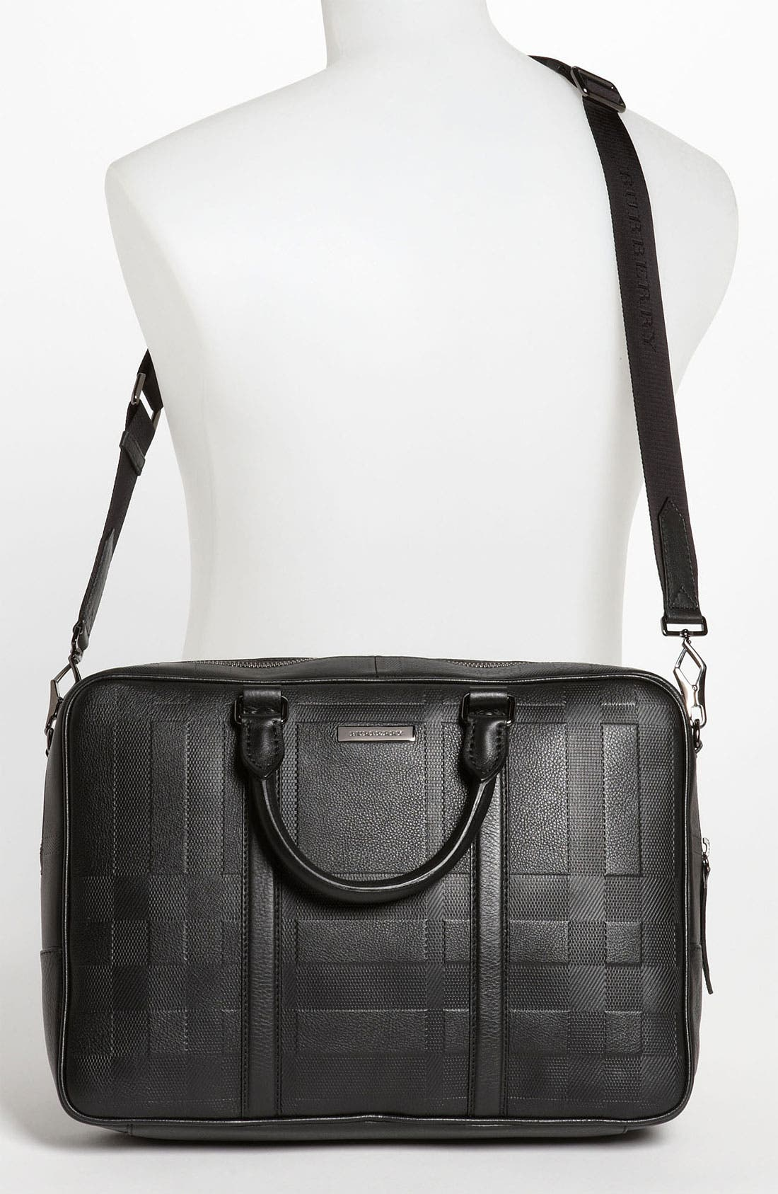 Alternate Image 2  - Burberry 'Maxwell' Check Embossed Leather Briefcase