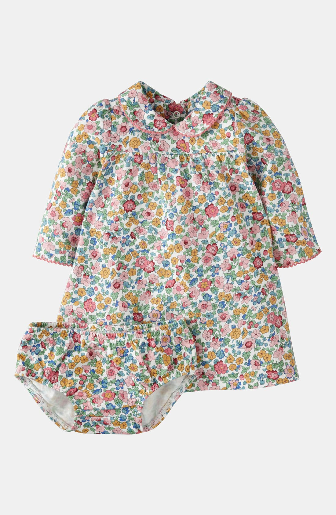 Alternate Image 1 Selected - Mini Boden 'Pretty' Jersey Dress & Bloomers (Baby)