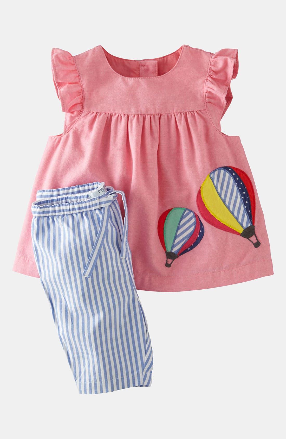 Alternate Image 1 Selected - Mini Boden Appliqué Dress & Leggings (Baby Girls)