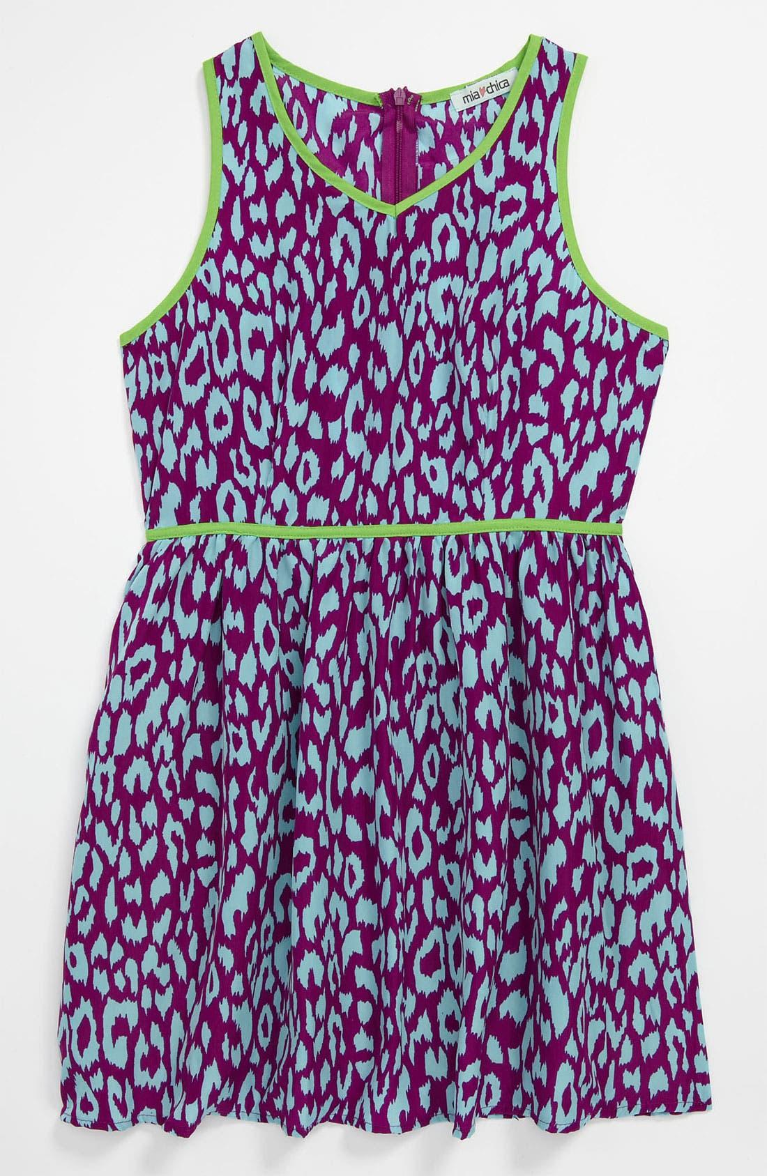 Main Image - Mia Chica Leopard Dress (Little Girls & Big Girls)