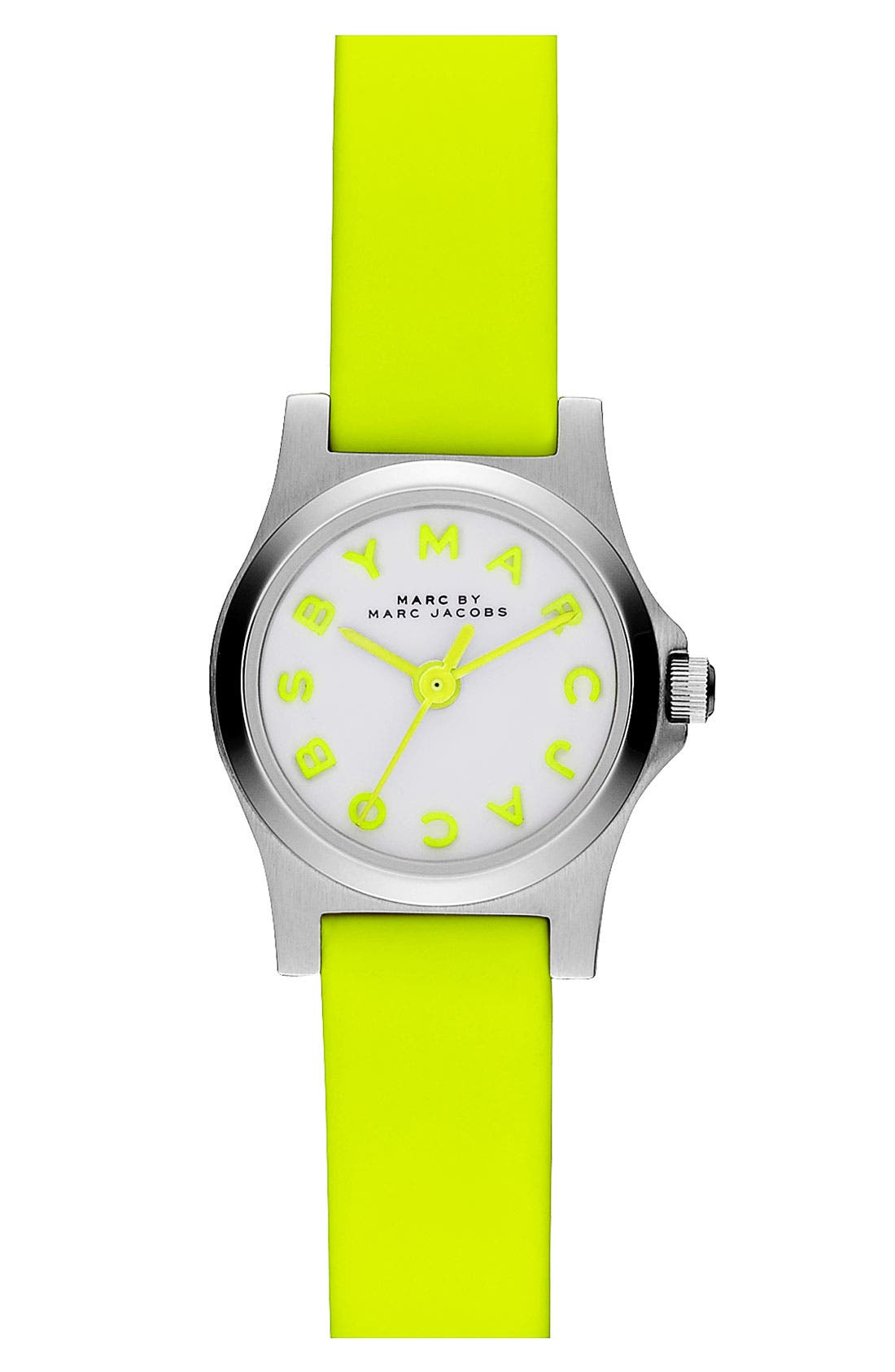 Alternate Image 1 Selected - MARC JACOBS 'Henry Dinky' Leather Strap Watch, 20mm