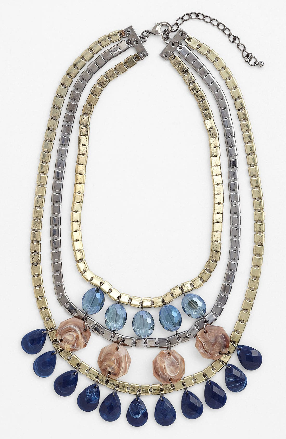 Alternate Image 1 Selected - Panacea 'Blue Drops' Three Tier Necklace