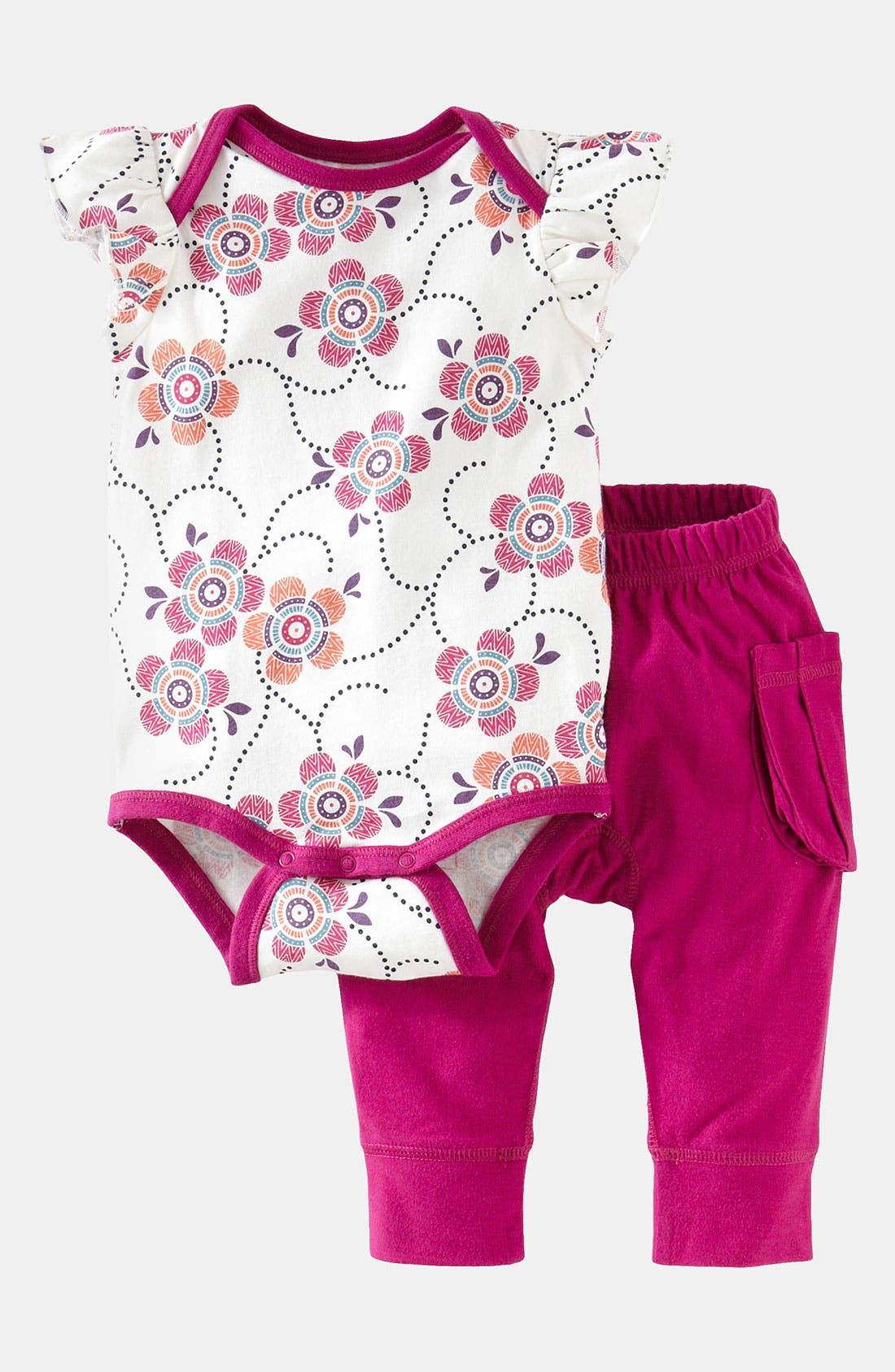 Alternate Image 1 Selected - Tea Collection 'Flutter' Bodysuit & Leggings (Infant)