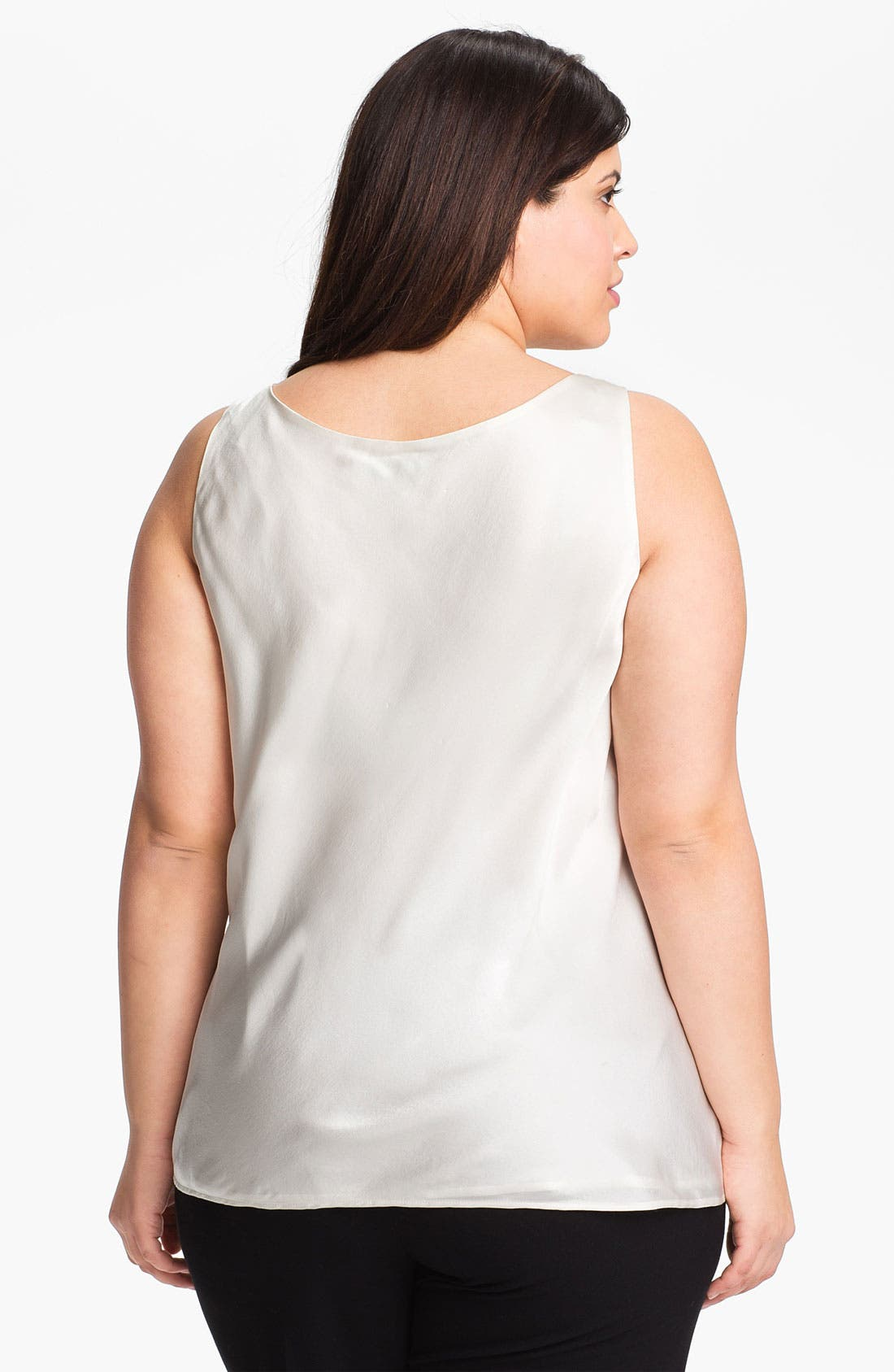 Alternate Image 2  - Sejour Silk Tank (Plus Size)