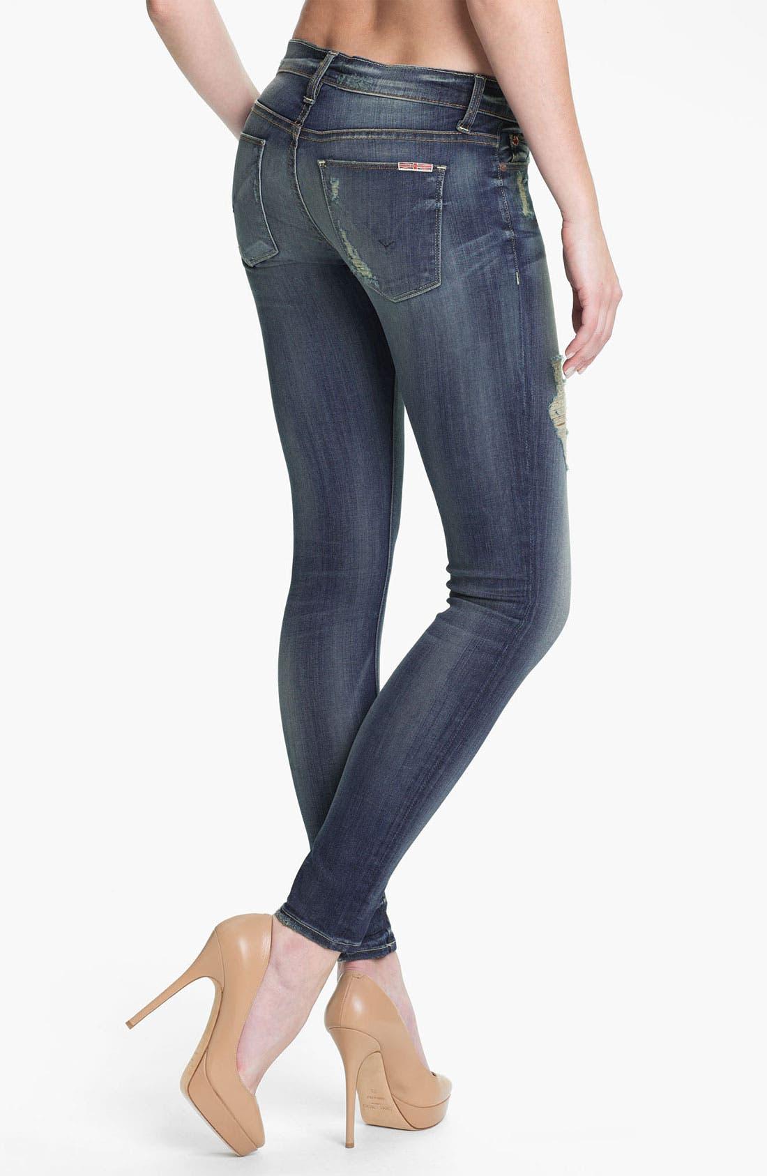 Alternate Image 2  - Hudson Jeans 'Krista' Super Skinny Jeans (Blondie)
