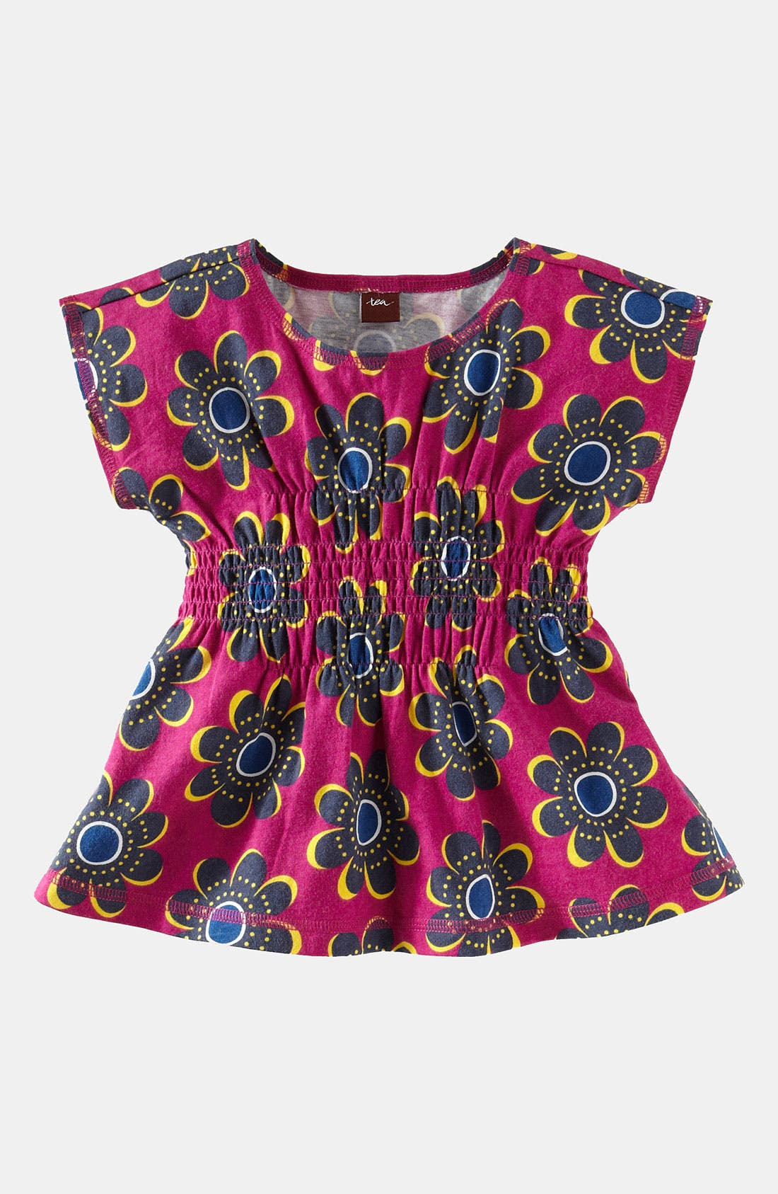 Main Image - Tea Collection 'Rosebank' Smocked Top (Toddler)