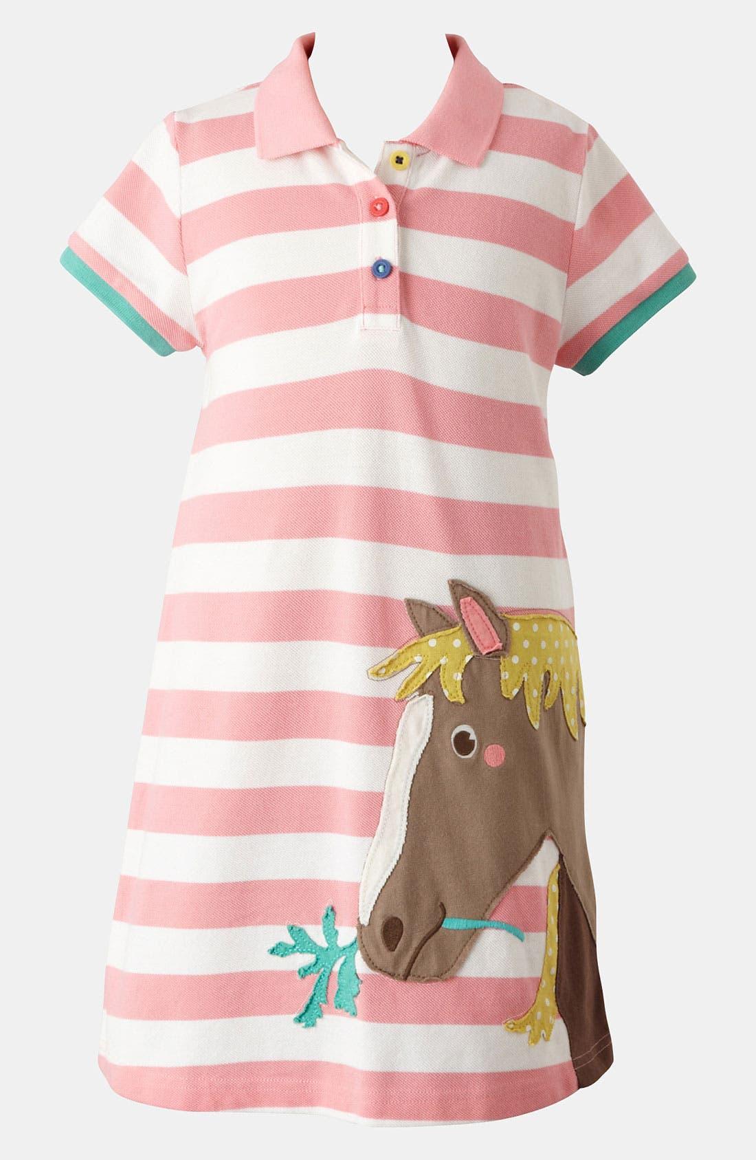 Main Image - Mini Boden 'Fun' Appliqué Polo Dress (Toddler, Little Girls & Big Girls)