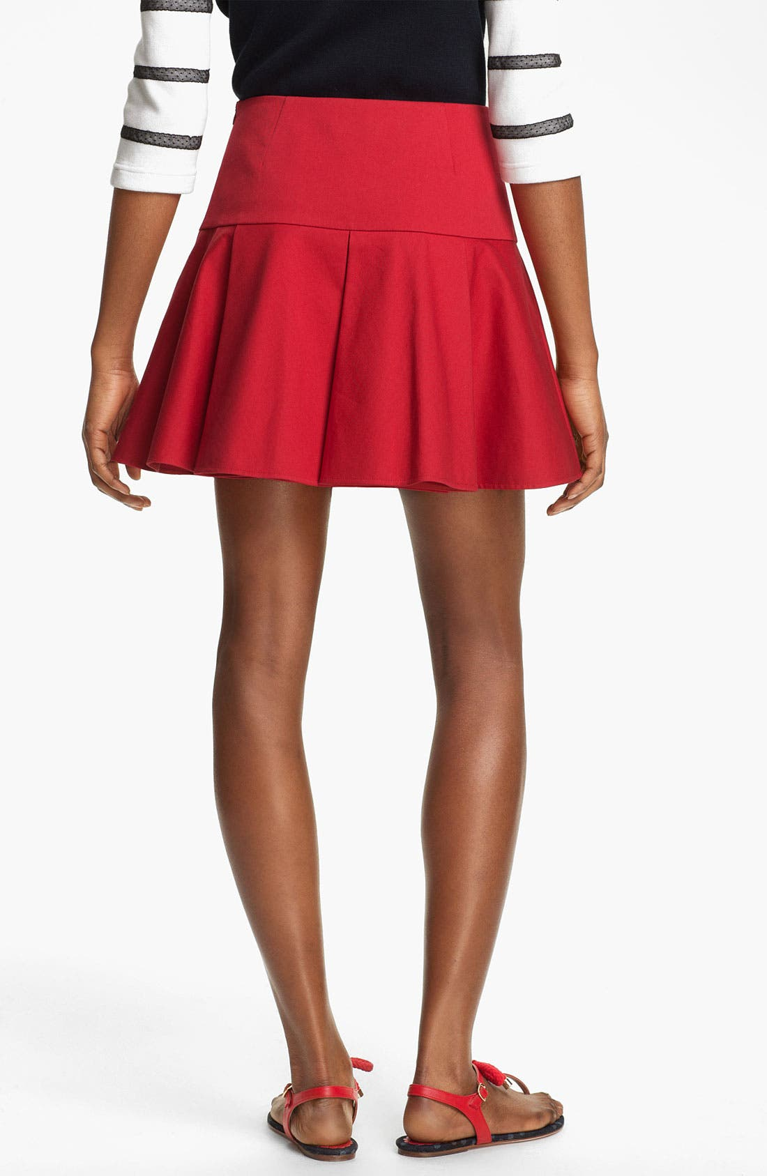 Alternate Image 2  - RED Valentino Pleated Stretch Gabardine Skirt