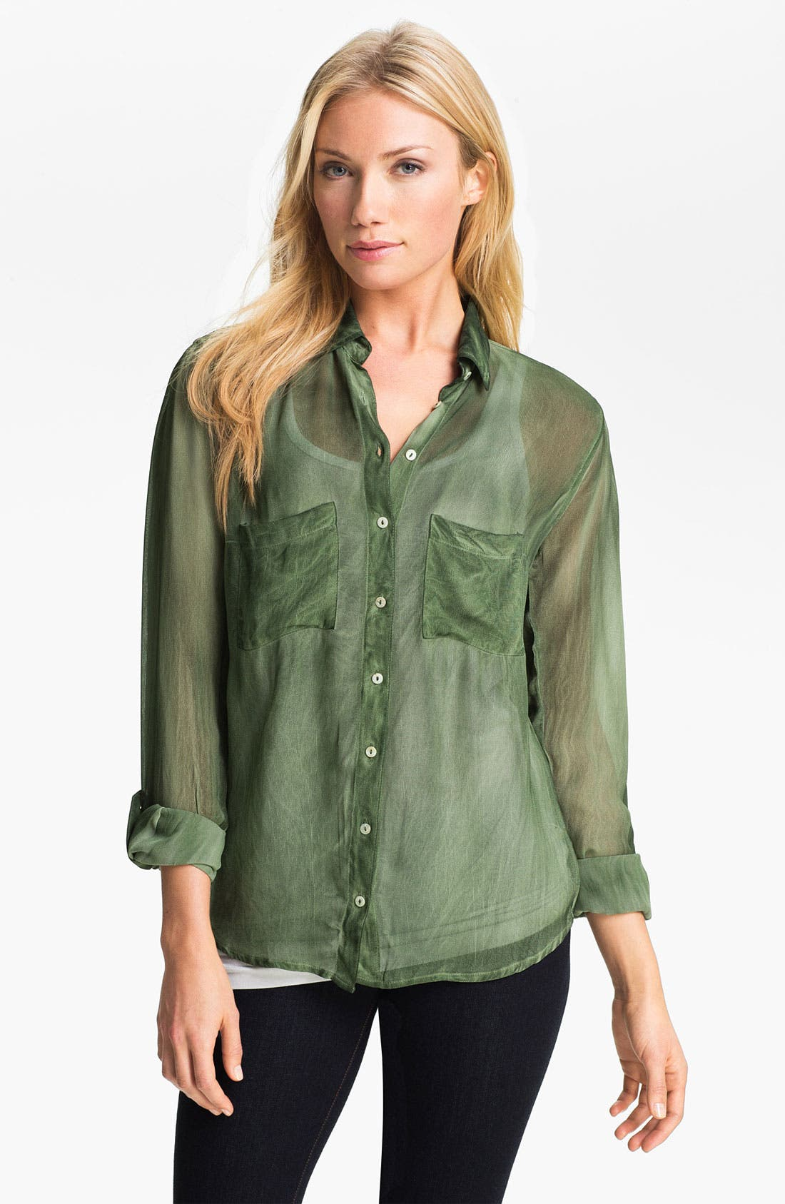 Alternate Image 1 Selected - Max & Mia Sheer Blouse