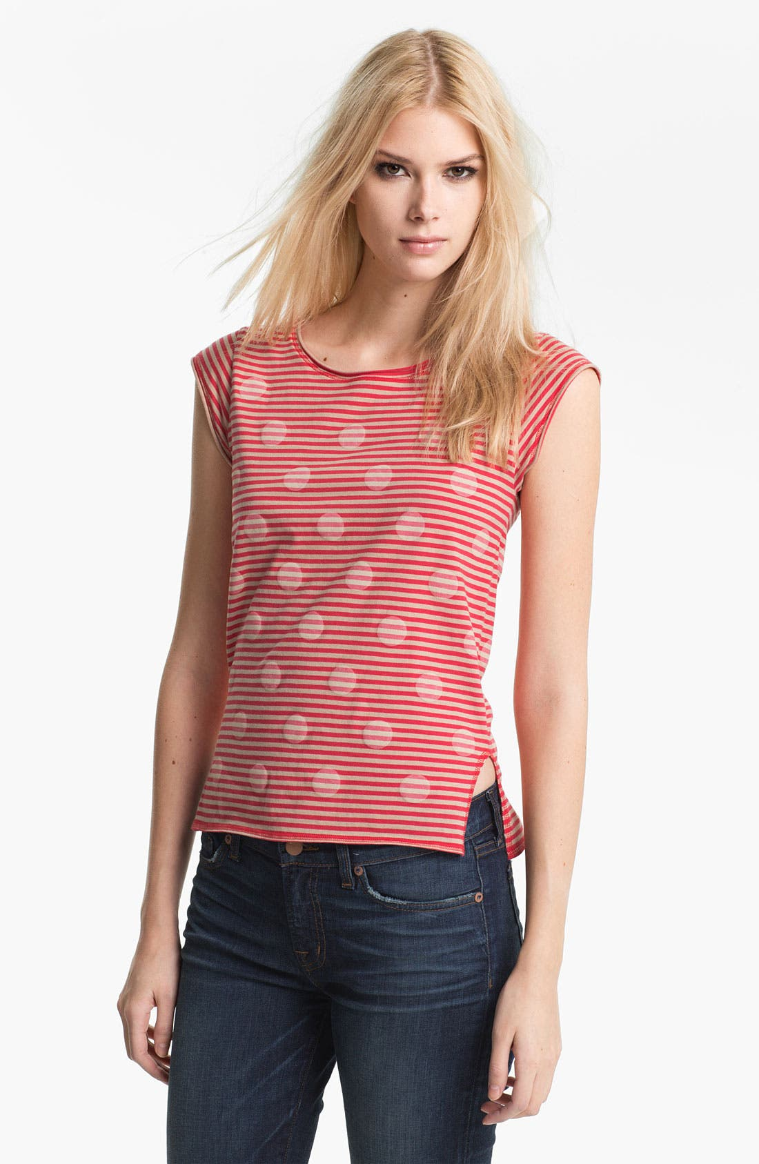 Alternate Image 1 Selected - MARC BY MARC JACOBS 'Willa' Dot Stripe Tank