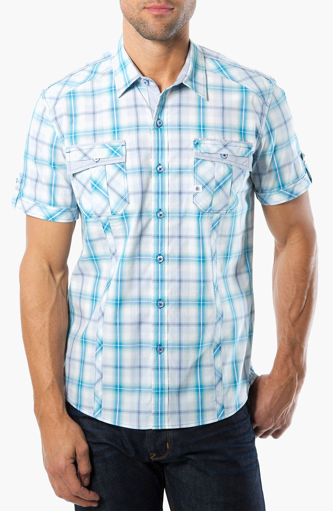 Alternate Image 1 Selected - 7 Diamonds 'Ocean Sky' Woven Sport Shirt