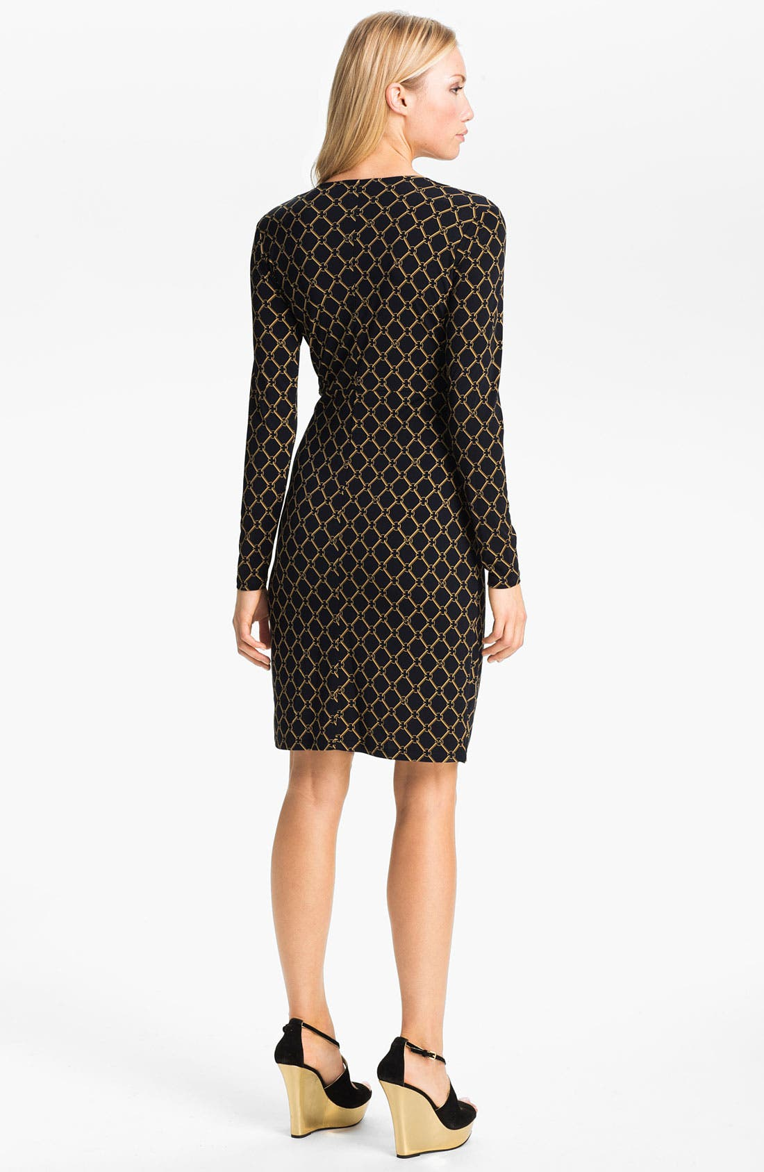 Alternate Image 2  - MICHAEL Michael Kors Chain Print Faux Wrap Dress