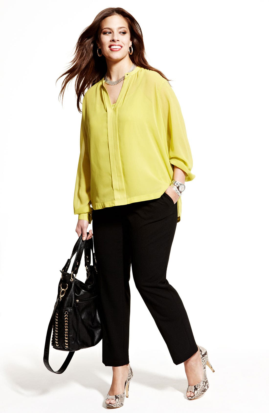 Alternate Image 4  - Vince Camuto Ankle Pants (Plus Size)