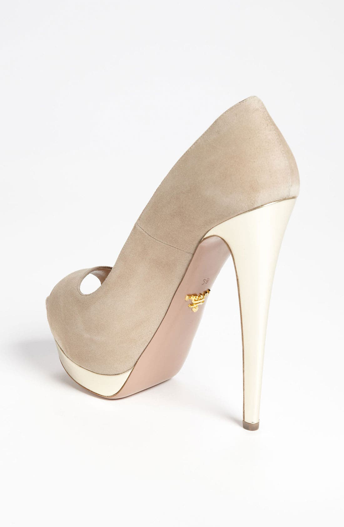 Alternate Image 2  - Prada Bicolor Peep Toe Pump