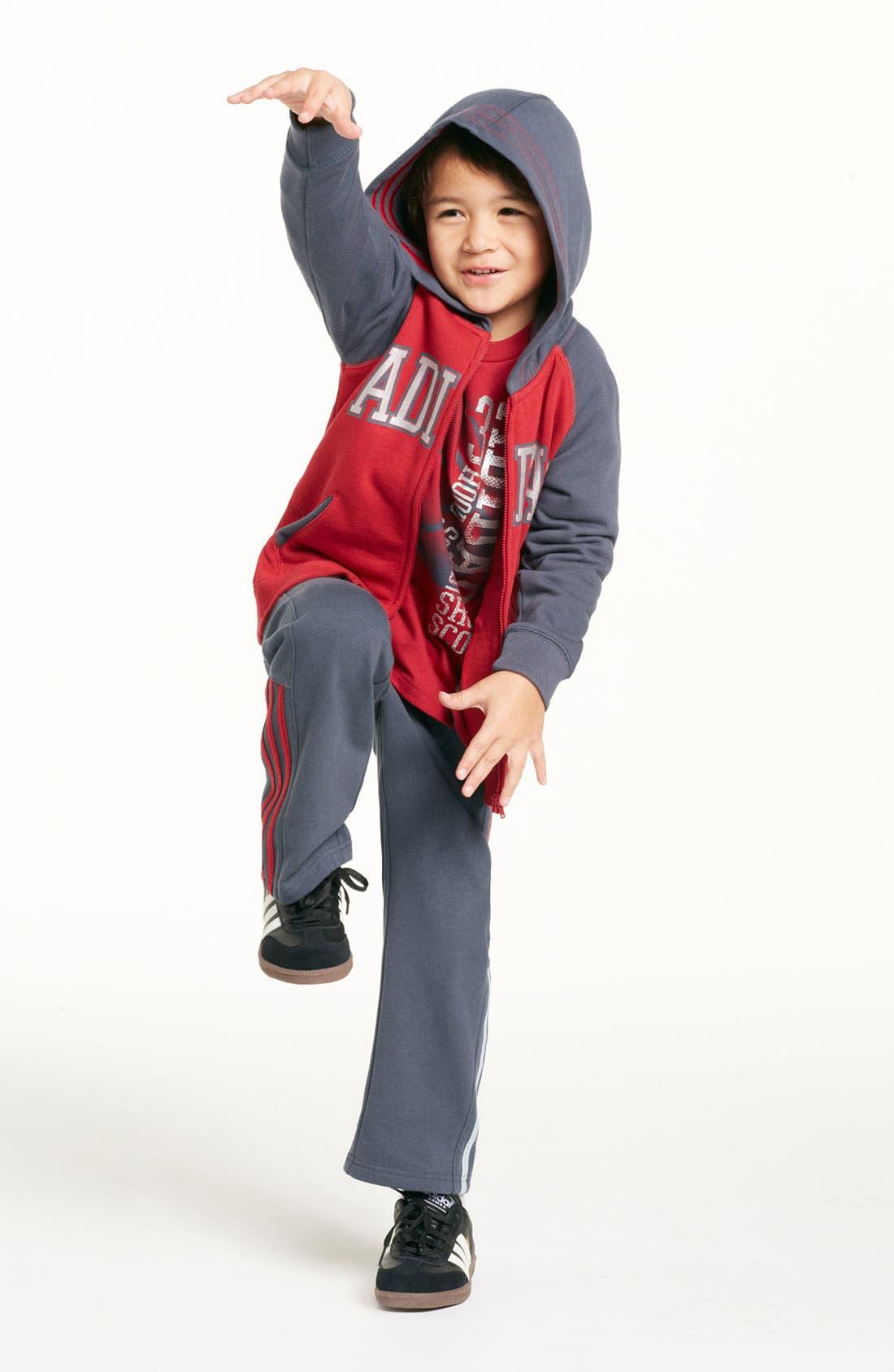 Alternate Image 2  - adidas 'Adi' Hoodie (Little Boys)