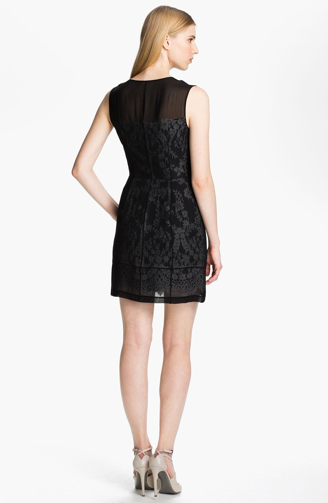 Alternate Image 2  - Robert Rodriguez Illusion Lace Dress