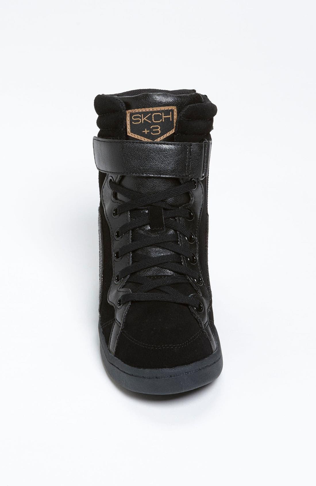 Alternate Image 3  - SKECHERS 'Three Booster' Wedge Sneaker (Women)