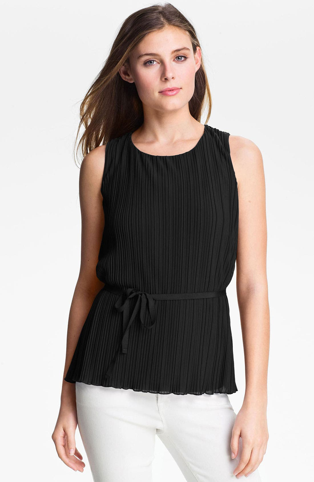 Alternate Image 1 Selected - Halogen® Pleated Knit Top