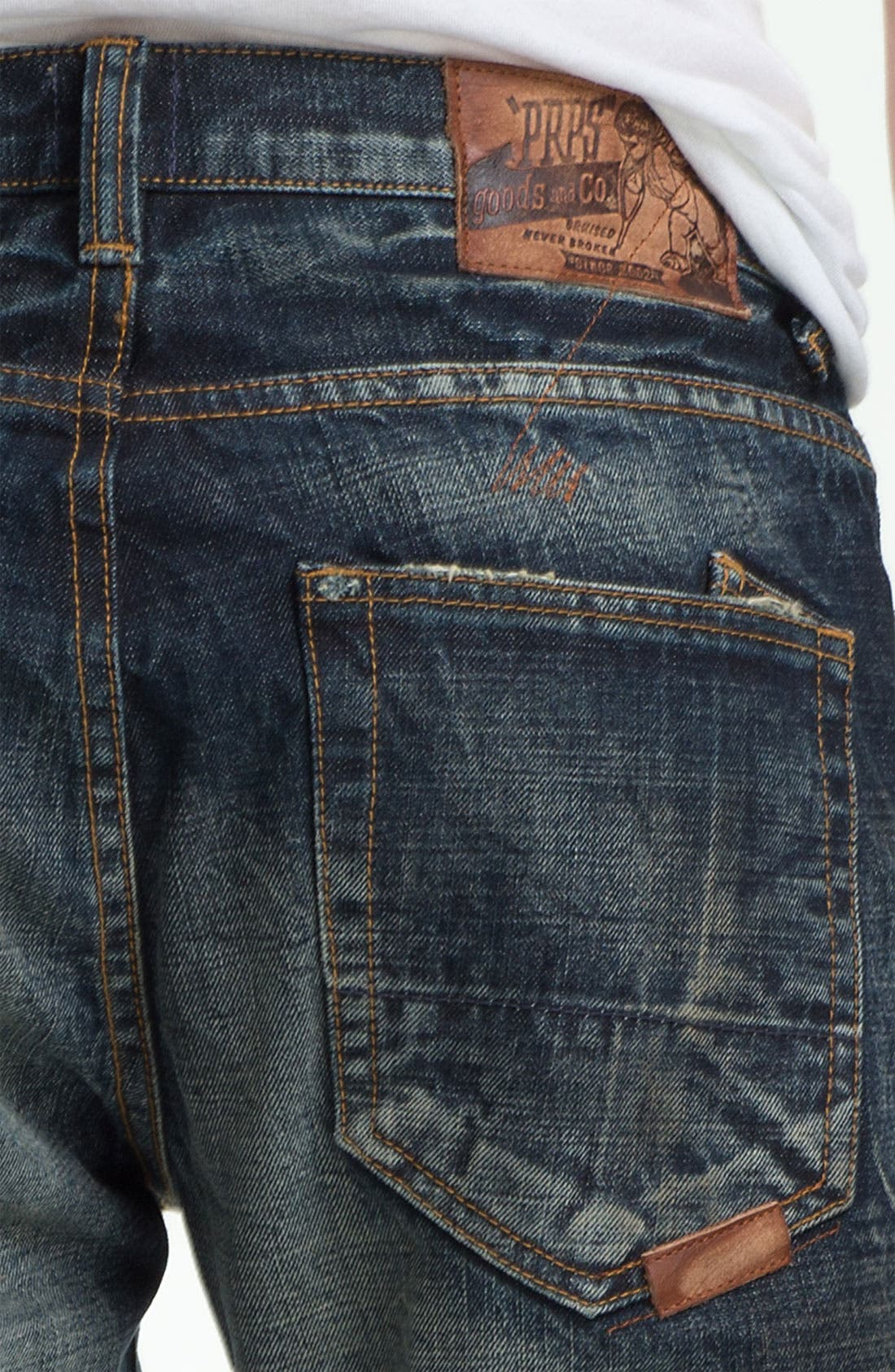 Alternate Image 4  - PRPS 'Barracuda' Straight Leg Jeans (Dark Blue)