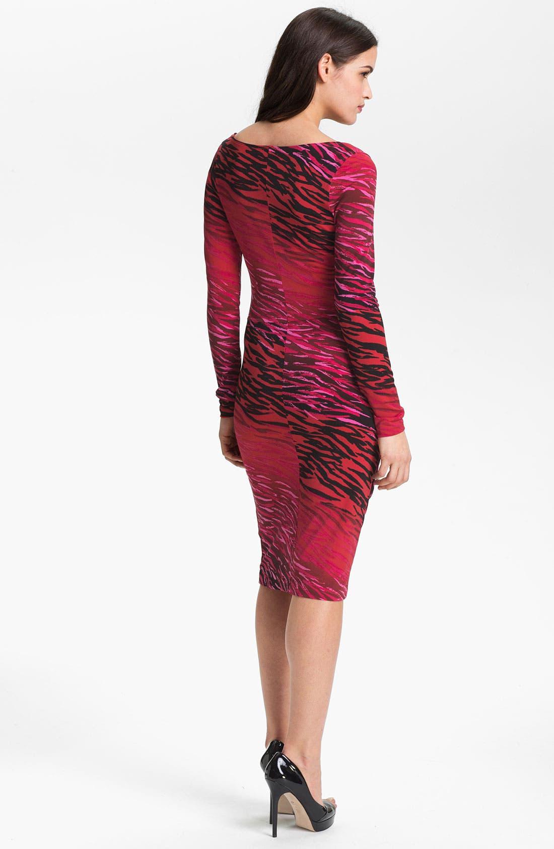 Alternate Image 2  - Anne Klein Ombré Zebra Print Dress