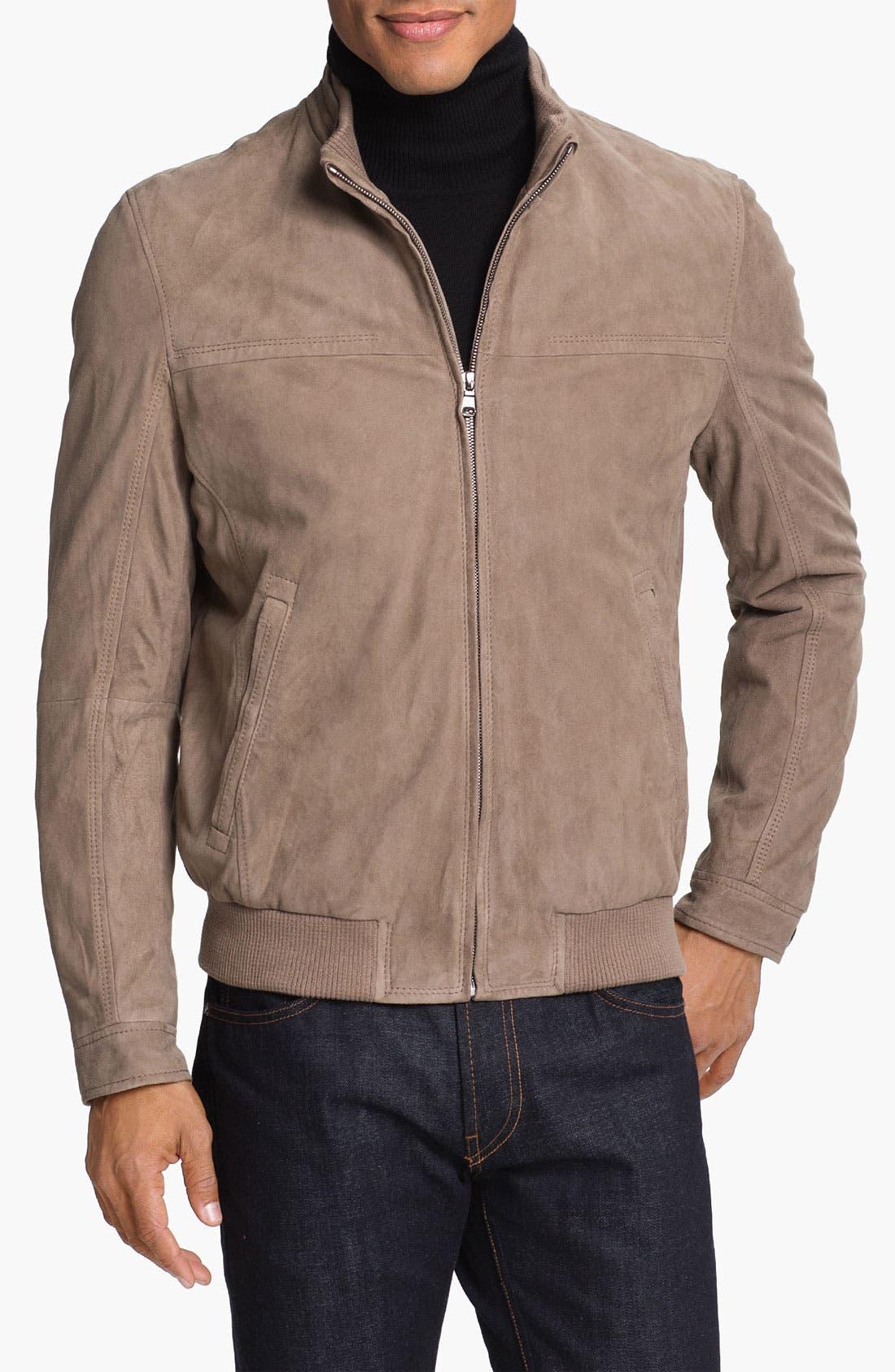 Alternate Image 1 Selected - BOSS Black 'Neodor' Suede Jacket