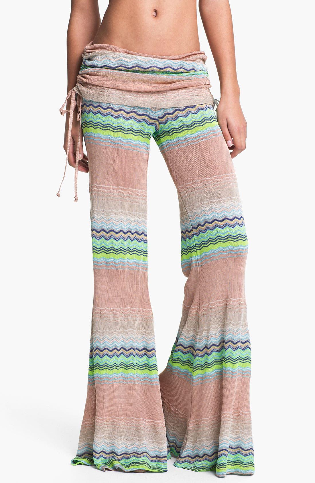 Main Image - Young, Fabulous & Broke 'Sierra' Zigzag Wide Leg Pants