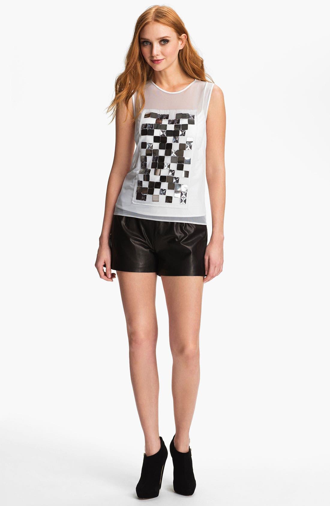 Alternate Image 4  - Milly 'Kelsey' Leather Shorts