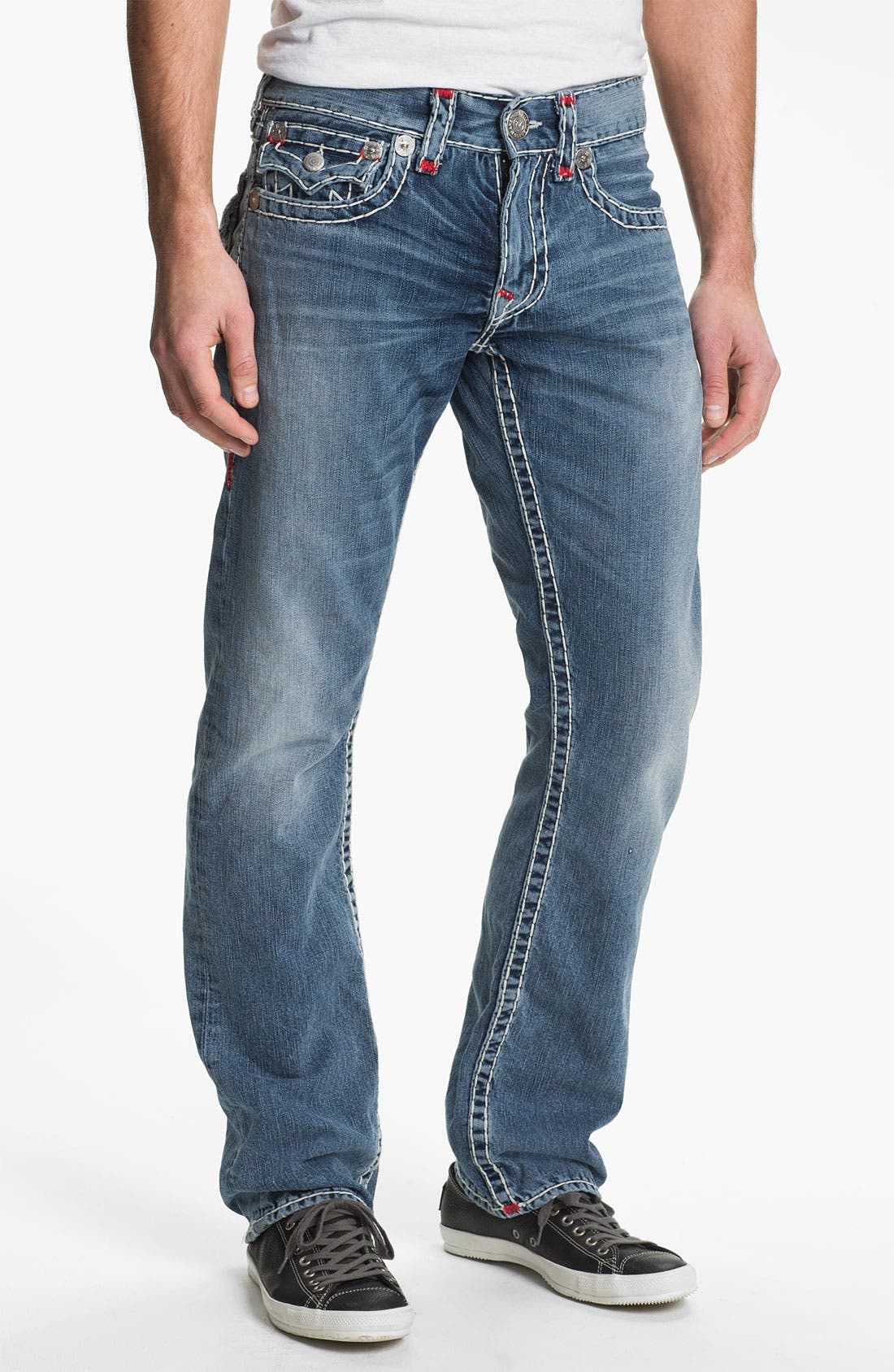 Alternate Image 2  - True Religion Brand Jeans 'Ricky' Straight Leg Jeans (Shade Horizons)