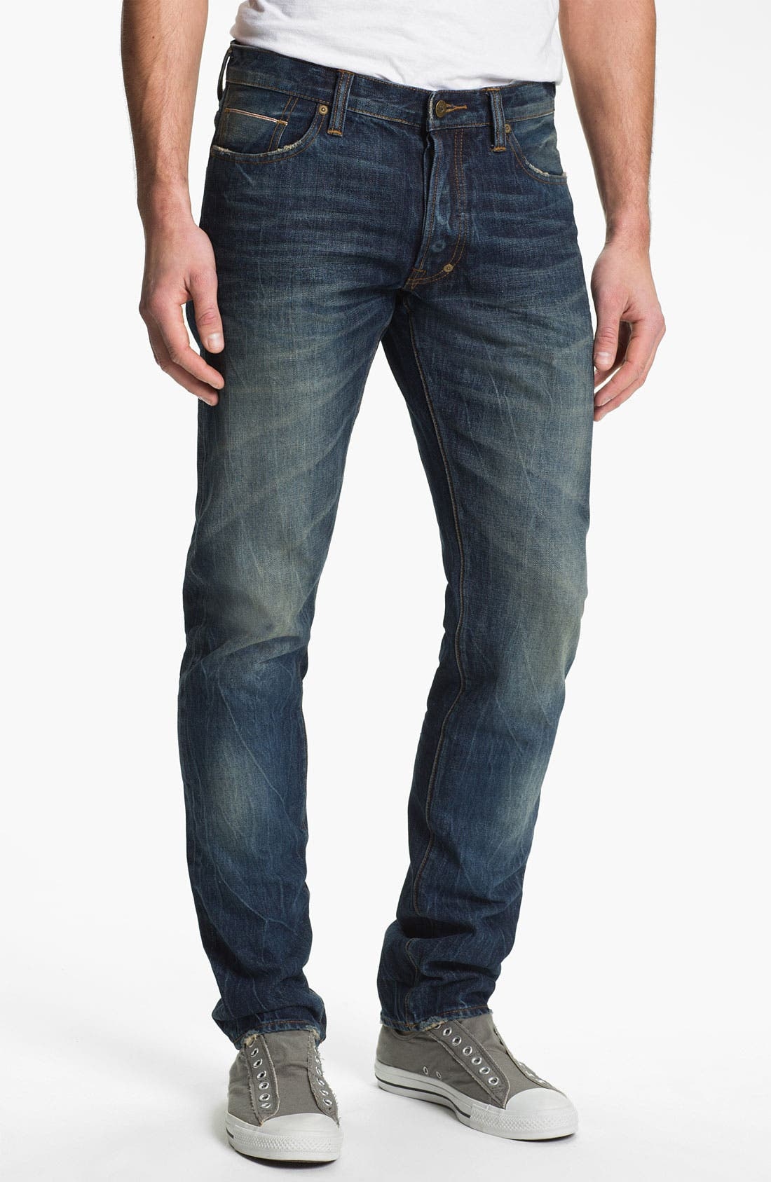 Alternate Image 1 Selected - PRPS 'Barracuda' Straight Leg Selvedge Jeans (1 Year)