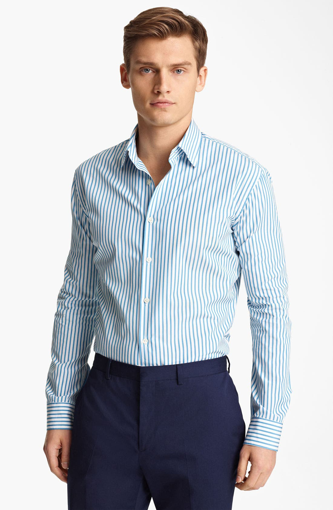 Alternate Image 1 Selected - Paul Smith London Candy Stripe Shirt