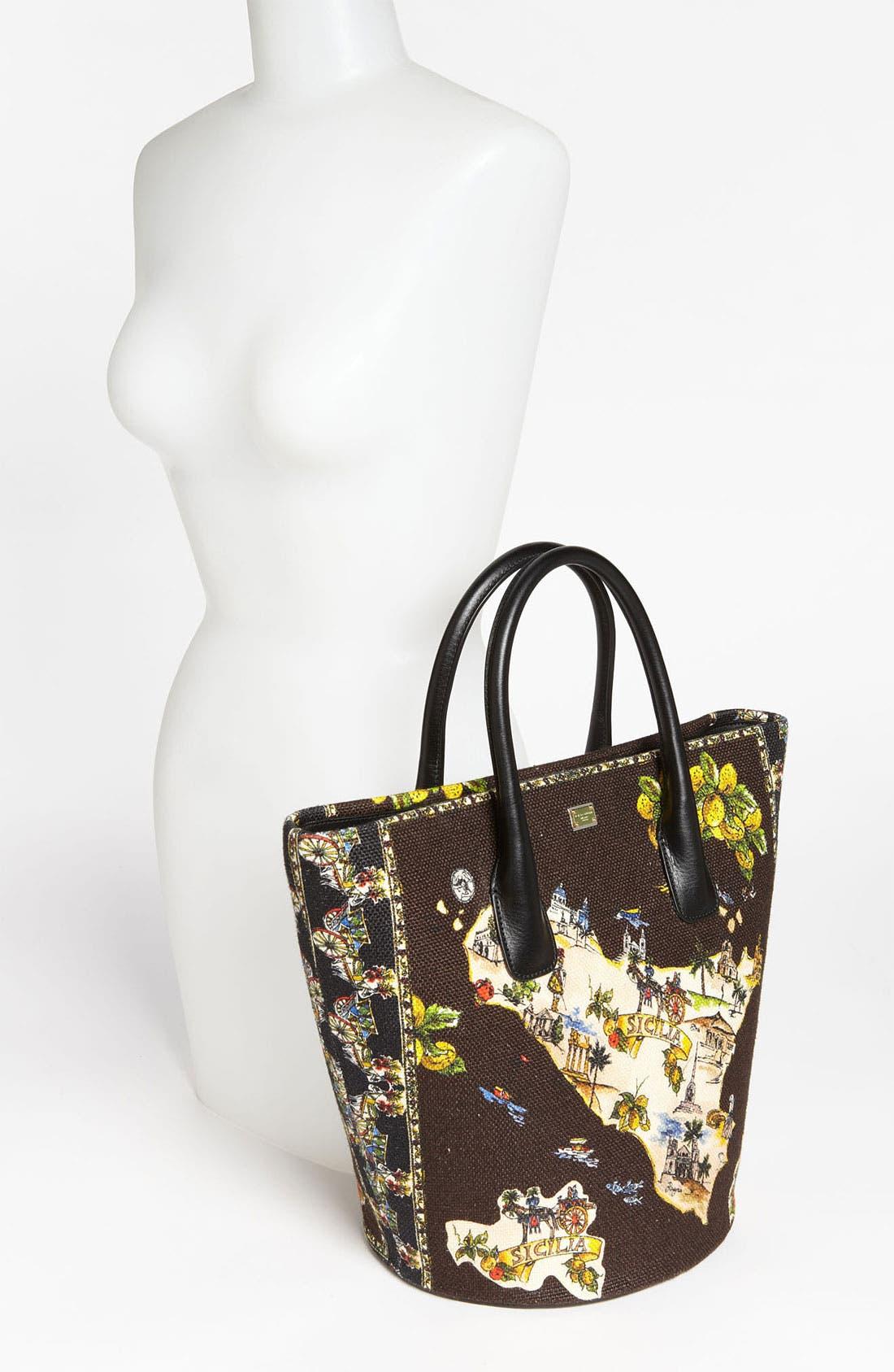 Alternate Image 2  - Dolce&Gabbana 'Miss Ingrid - Sicily Medium' Bucket Shopper