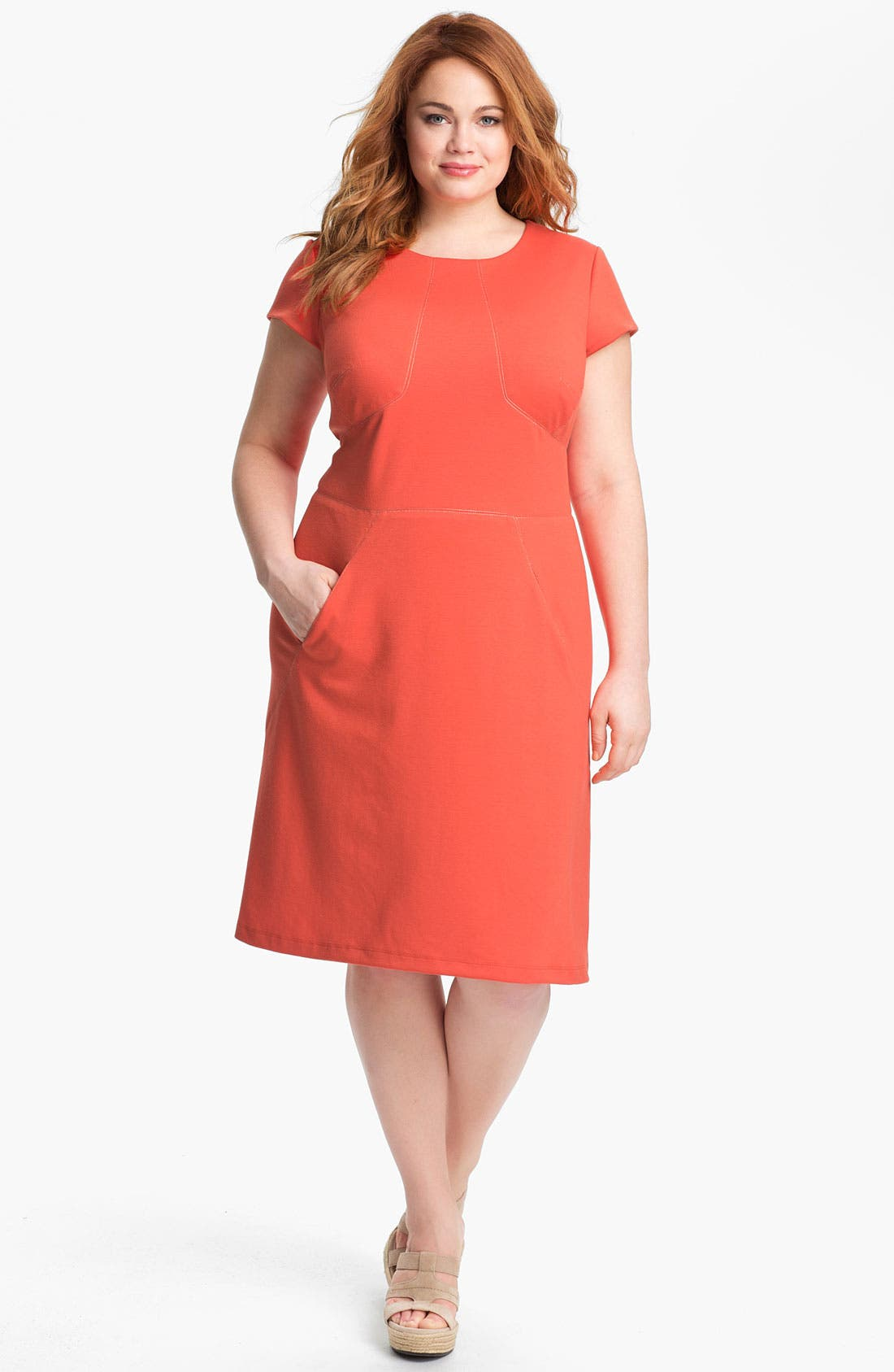 Alternate Image 1 Selected - Donna Ricco Shift Dress (Plus)
