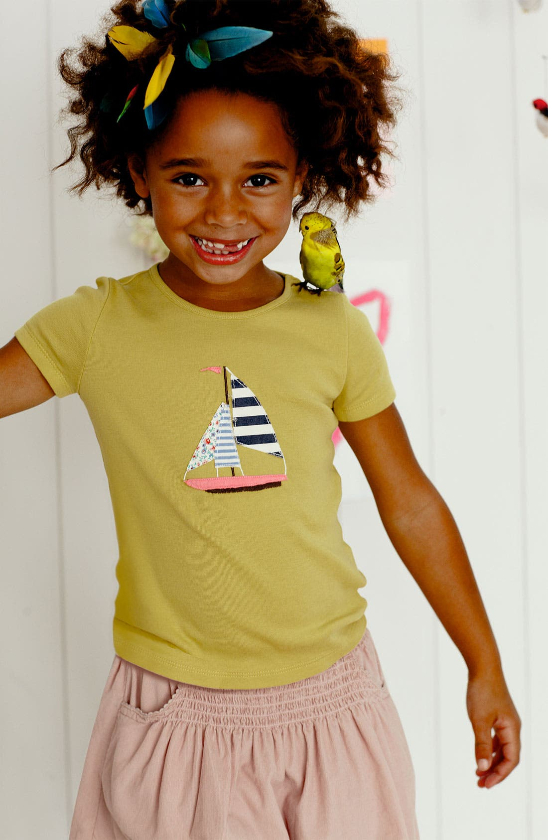 Alternate Image 2  - Mini Boden Appliqué Tee (Little Girls & Big Girls)