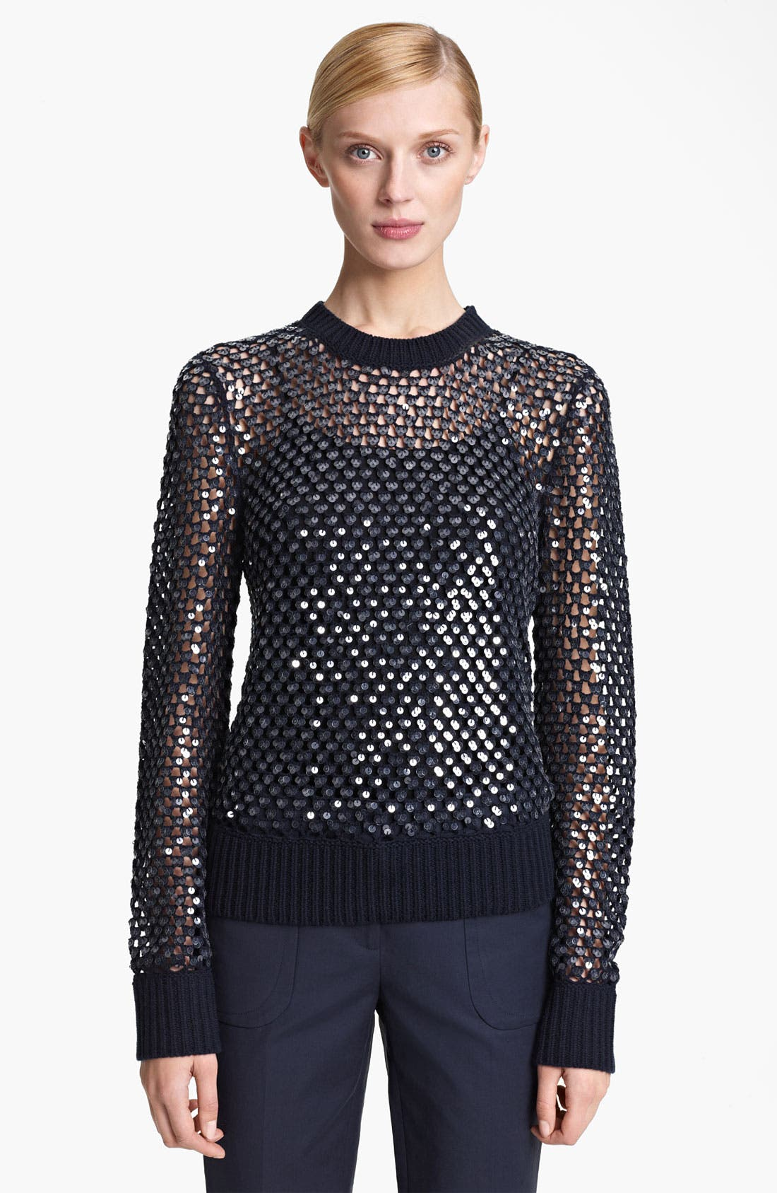 Alternate Image 1 Selected - Michael Kors Paillette Cashmere Sweater