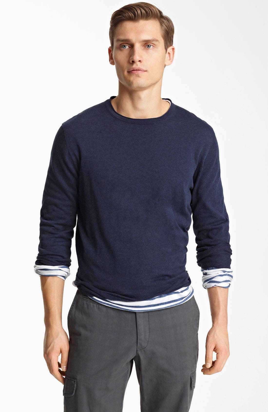 Alternate Image 1 Selected - Zegna Sport Double Layer Crewneck T-Shirt