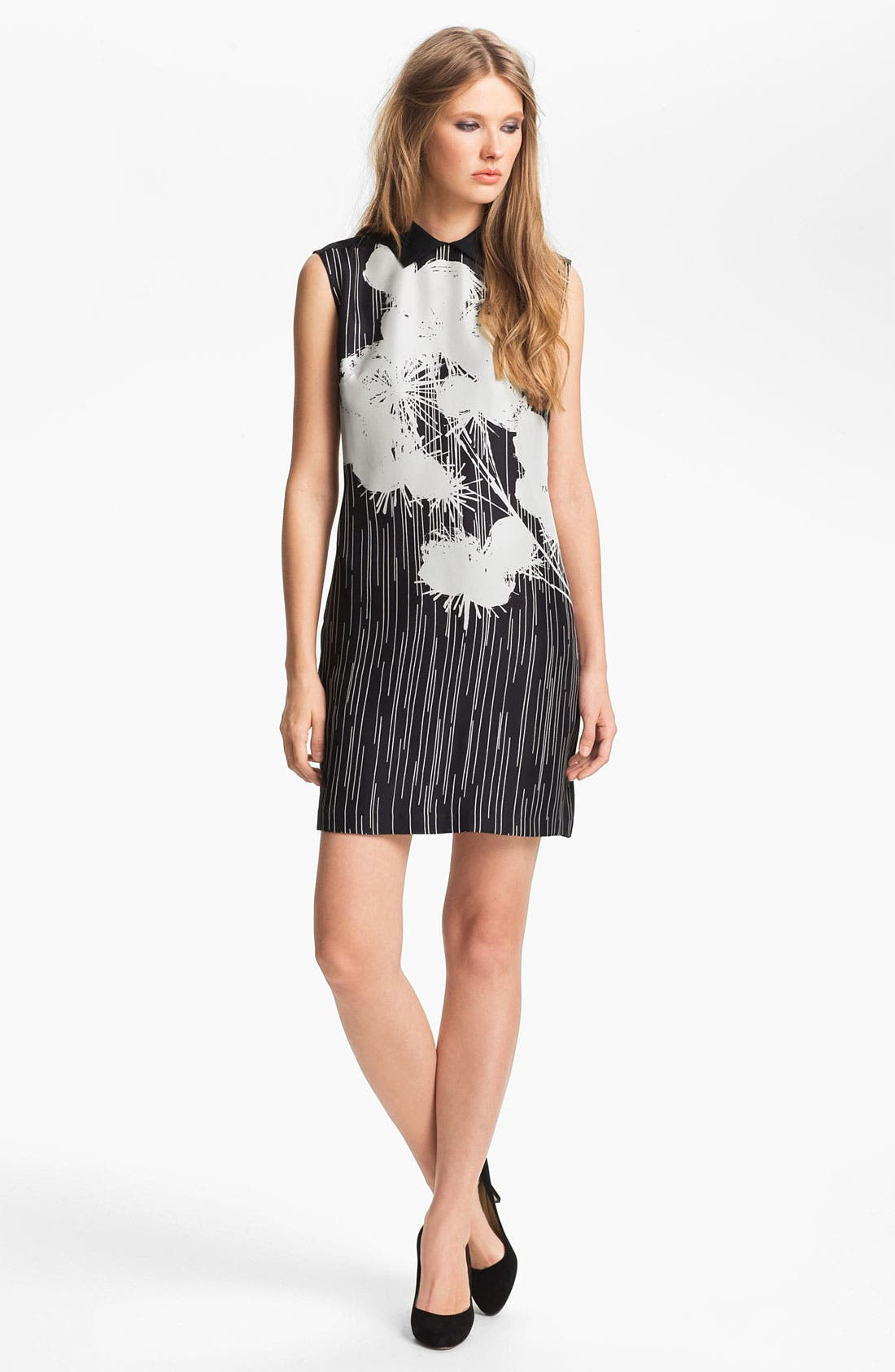 Main Image - Miss Wu Floral Print Silk Dress (Nordstrom Exclusive)