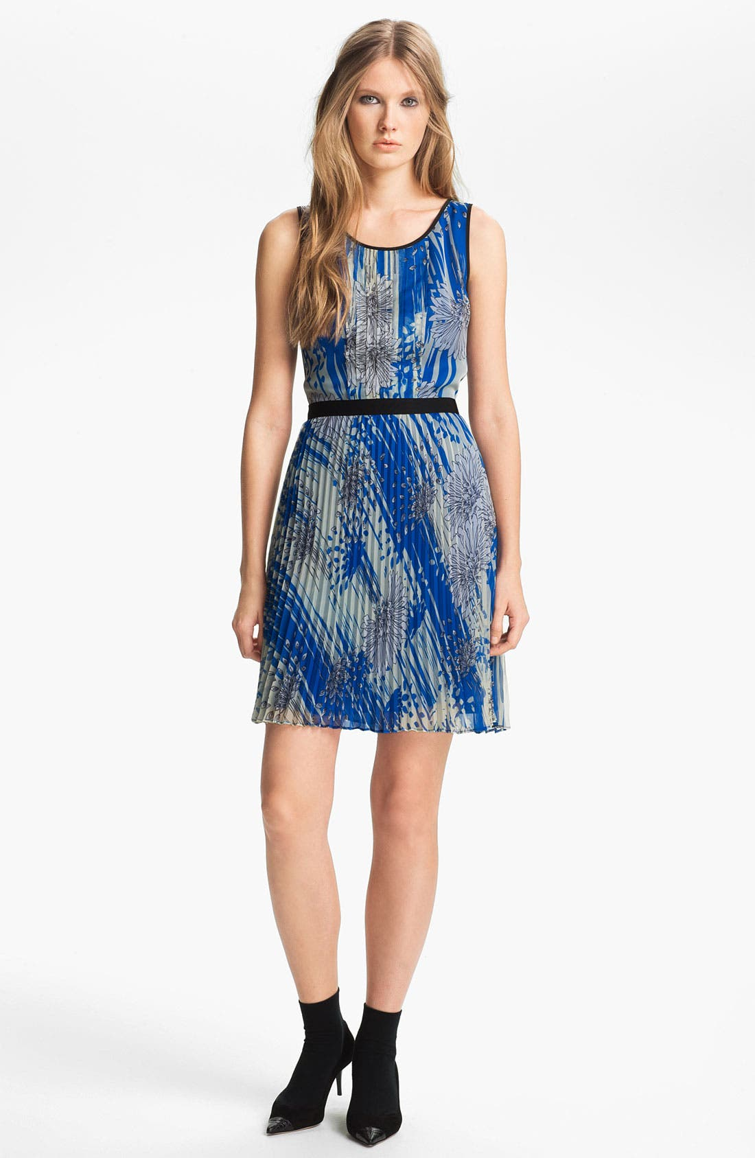 Main Image - Miss Wu Print Chiffon Dress (Nordstrom Exclusive)