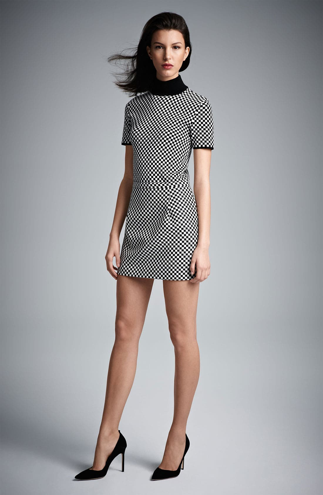 Alternate Image 4  - Michael Kors Optic Check Jacquard Miniskirt