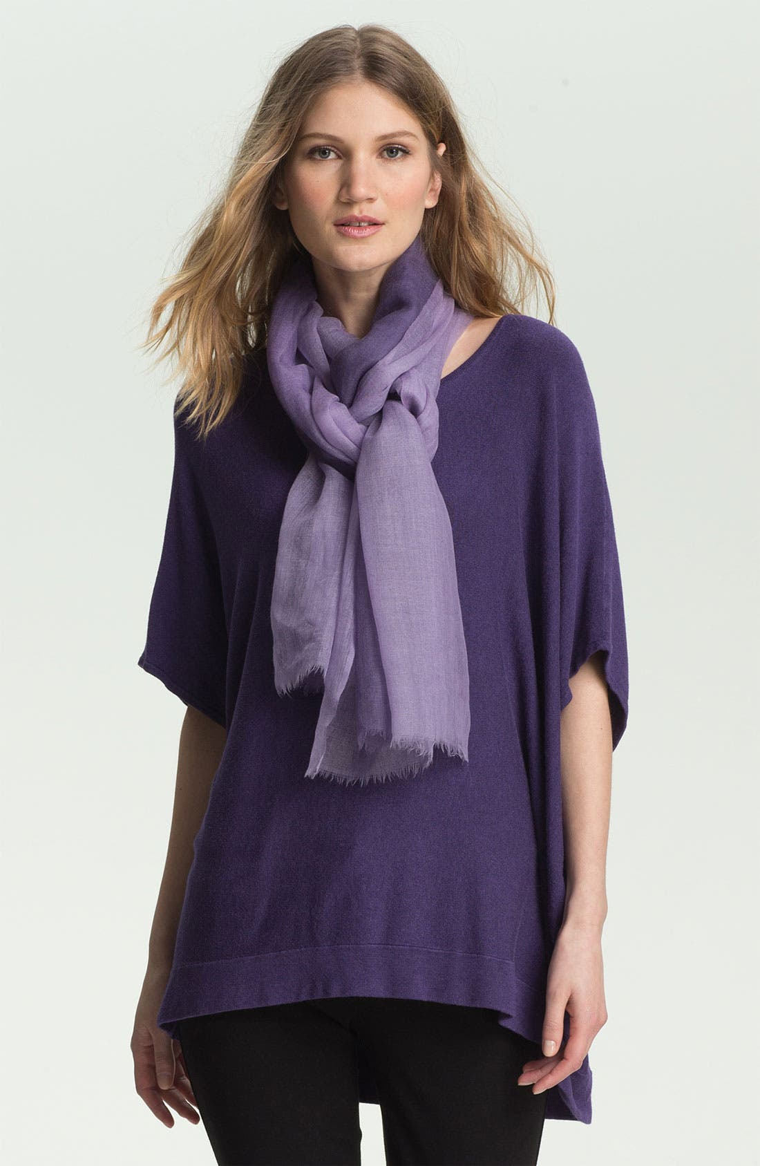 Alternate Image 1 Selected - Eileen Fisher Bateau Neck Boxy Knit Top (Online Exclusive)