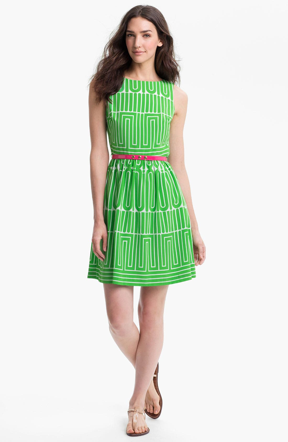Main Image - Trina Turk 'Garden Maze' Print Fit & Flare Dress