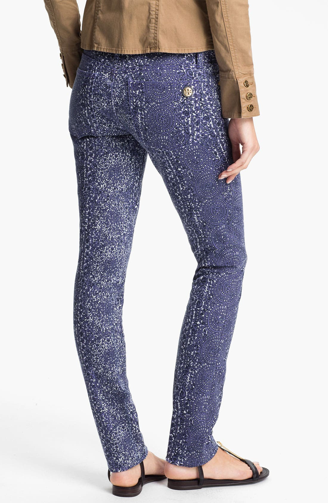Alternate Image 2  - Tory Burch 'Ivy' Print Skinny Jean