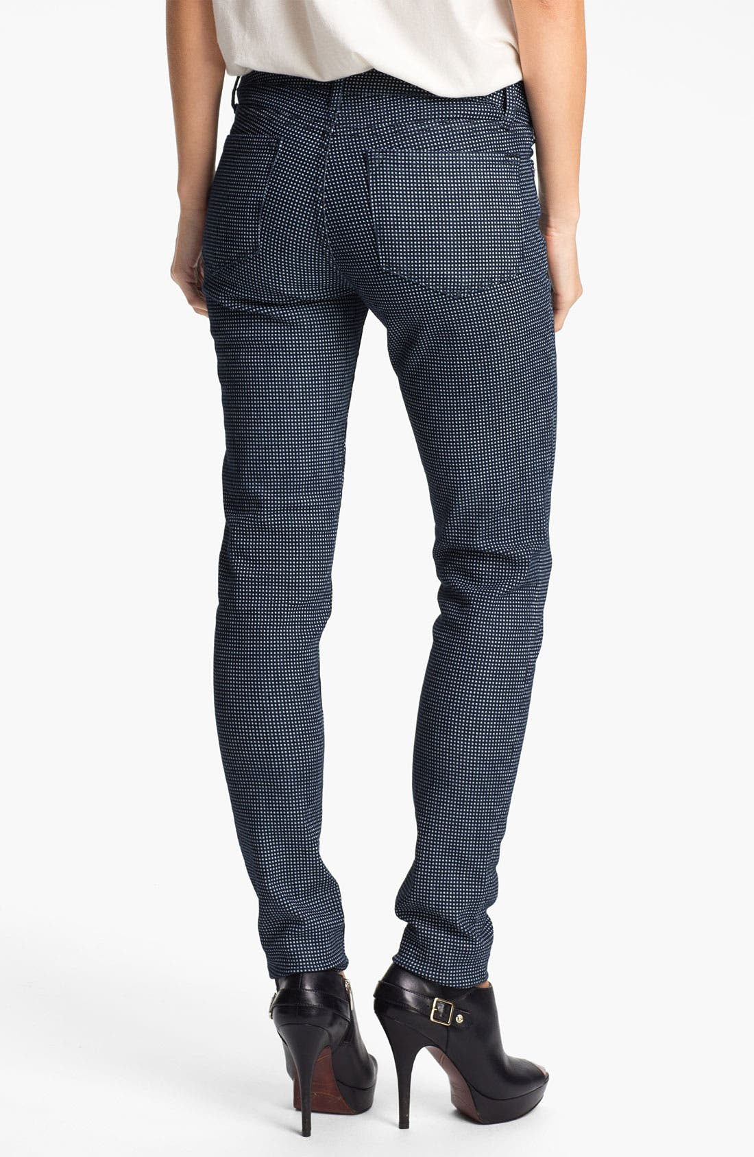 Alternate Image 2  - Blue Essence Check Print Skinny Jeans (Nordstrom Exclusive)