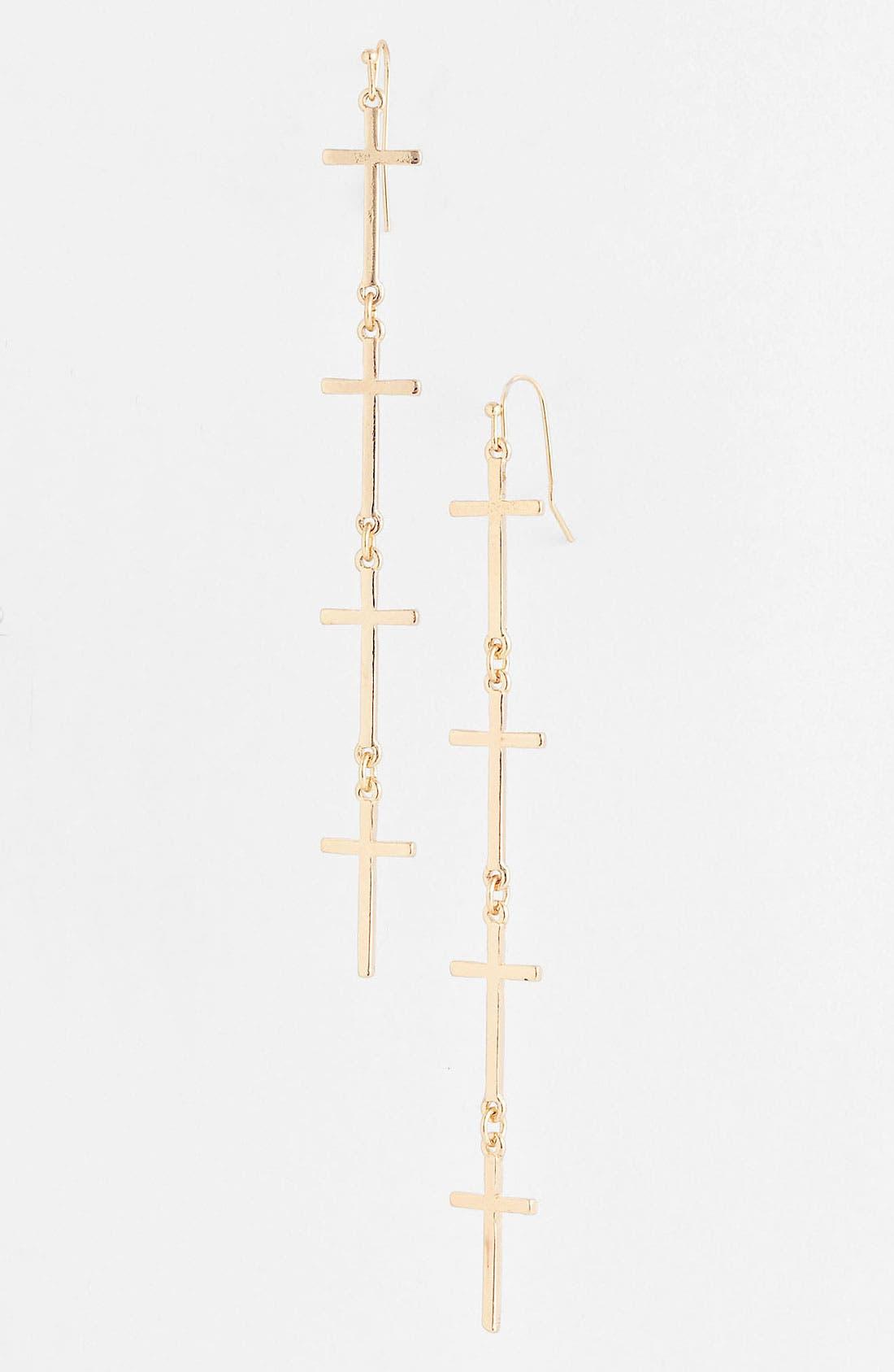 Alternate Image 1 Selected - Devan Four Cross Earrings