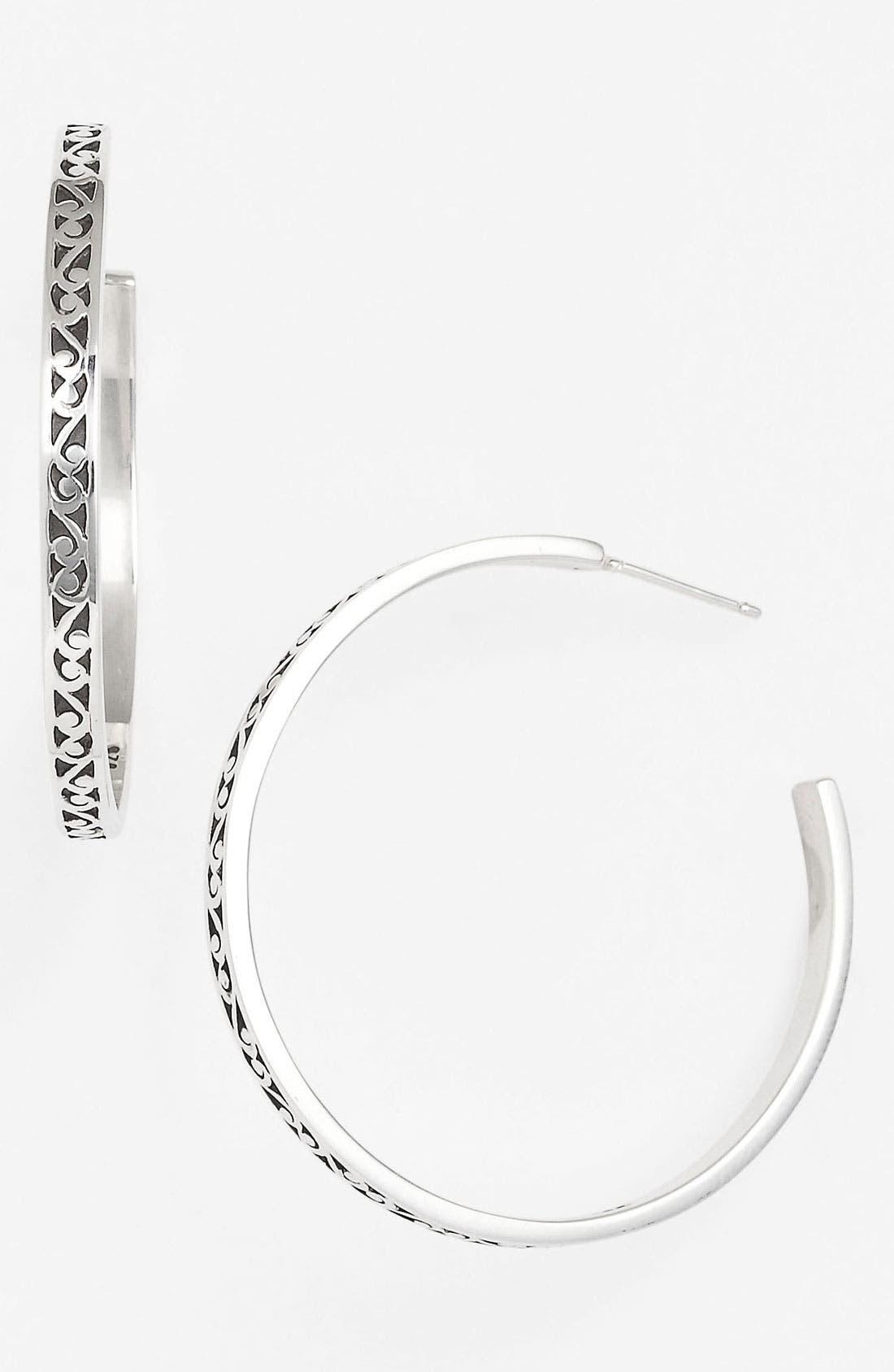 Main Image - Lois Hill 'Classics' Thin Hoop Earrings